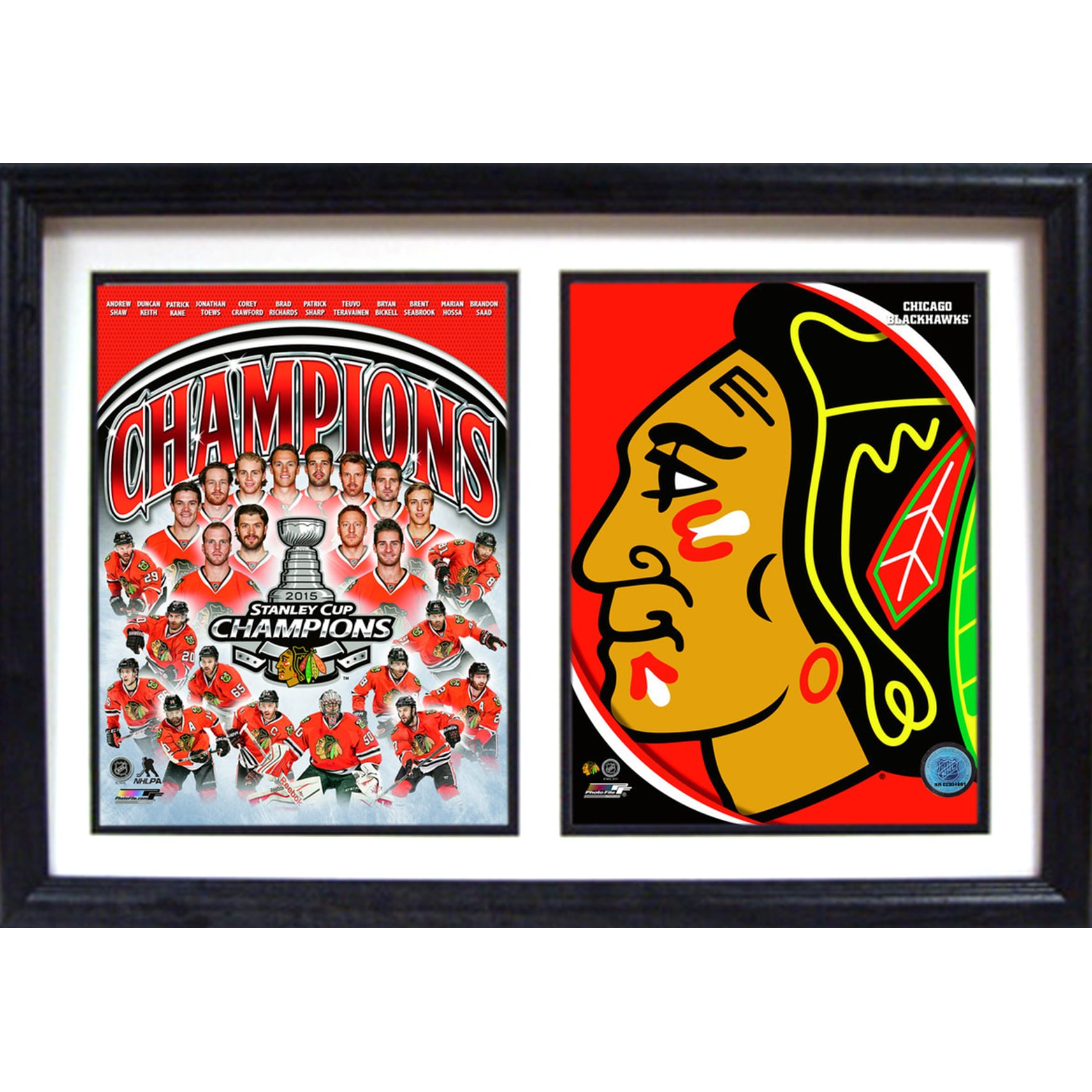 Shop 2015 Stanley Cup Champions Chicago Blackhawks Logo 12x18 Double ...