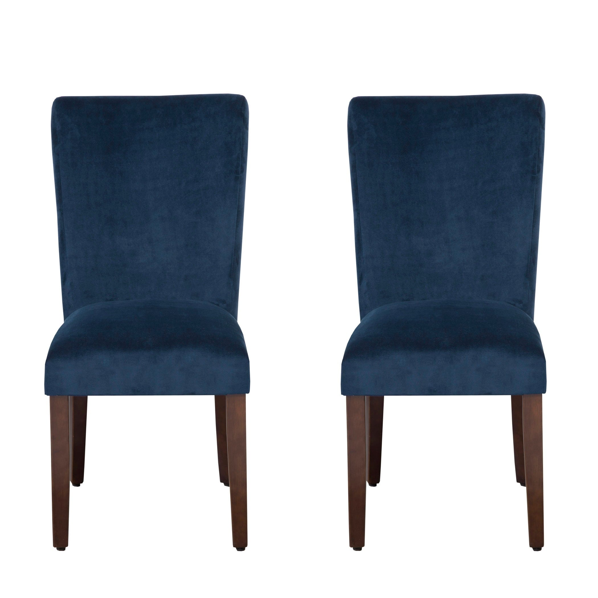Homepop Ink Navy Plush Velvet Parson Chairs Set Of 2 Free Shipping Today 17411497