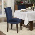 HomePop Ink Navy Plush Velvet Parson Chairs (Set of 2)