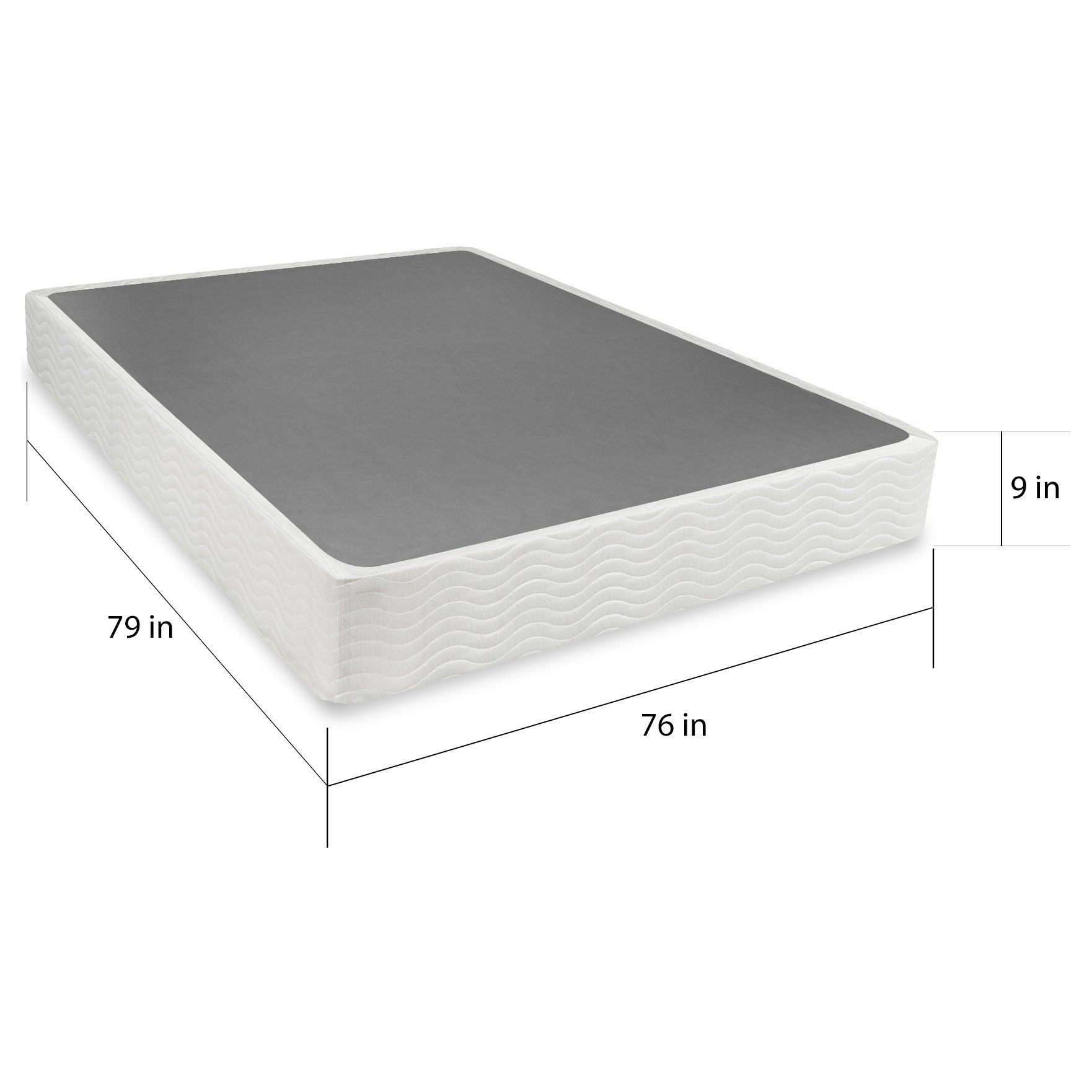 Priage 9 inch King size Easy to Assemble Box Spring Mattress