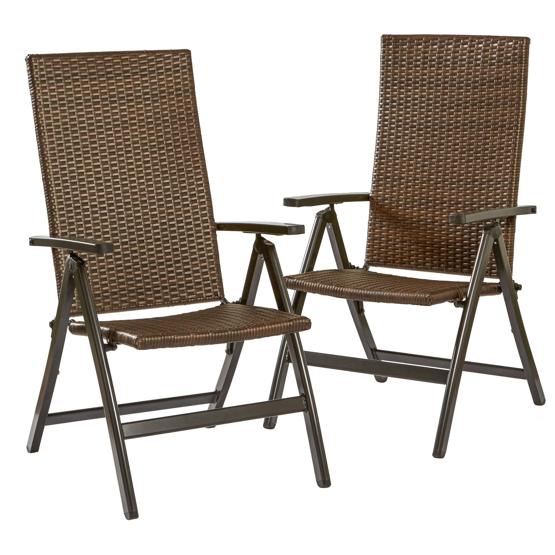 Clay Alder Home Robyville Hand Woven PE Wicker Outdoor Reclining Chairs,  Set Of Two   Free Shipping Today   Overstock   17412390