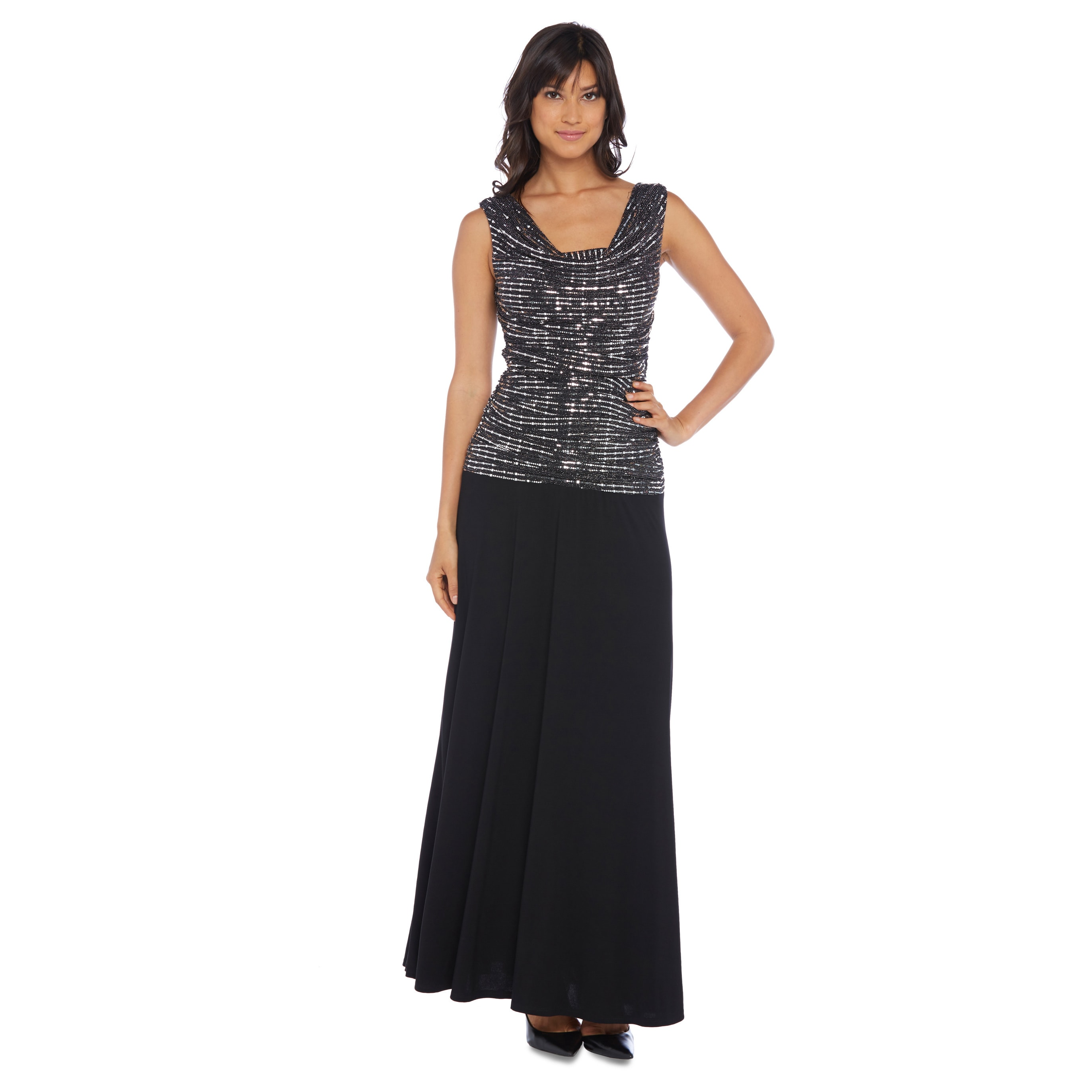 Shop R&M Richards Met Knit Evening Gown - Free Shipping Today ...
