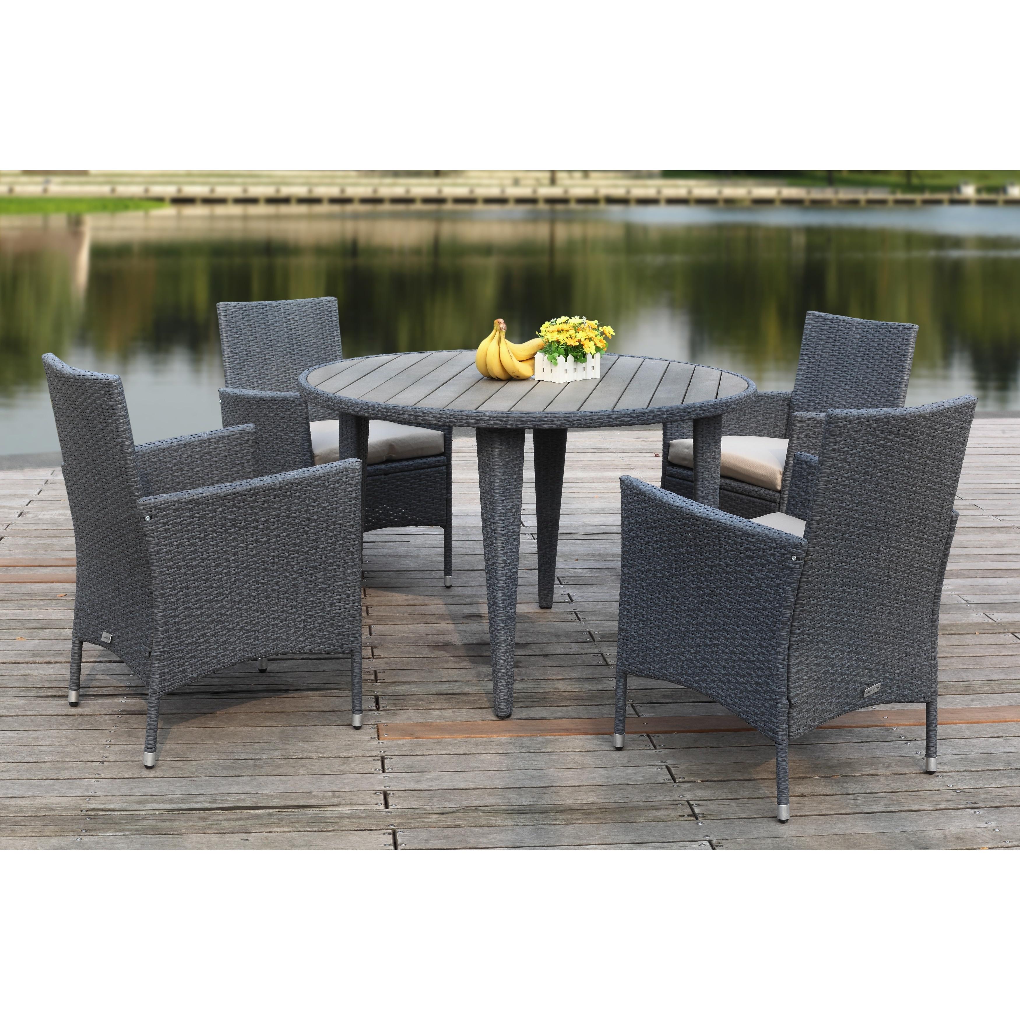 Shop Safavieh Outdoor Living Cooley Titanium Sand Dining Set 5