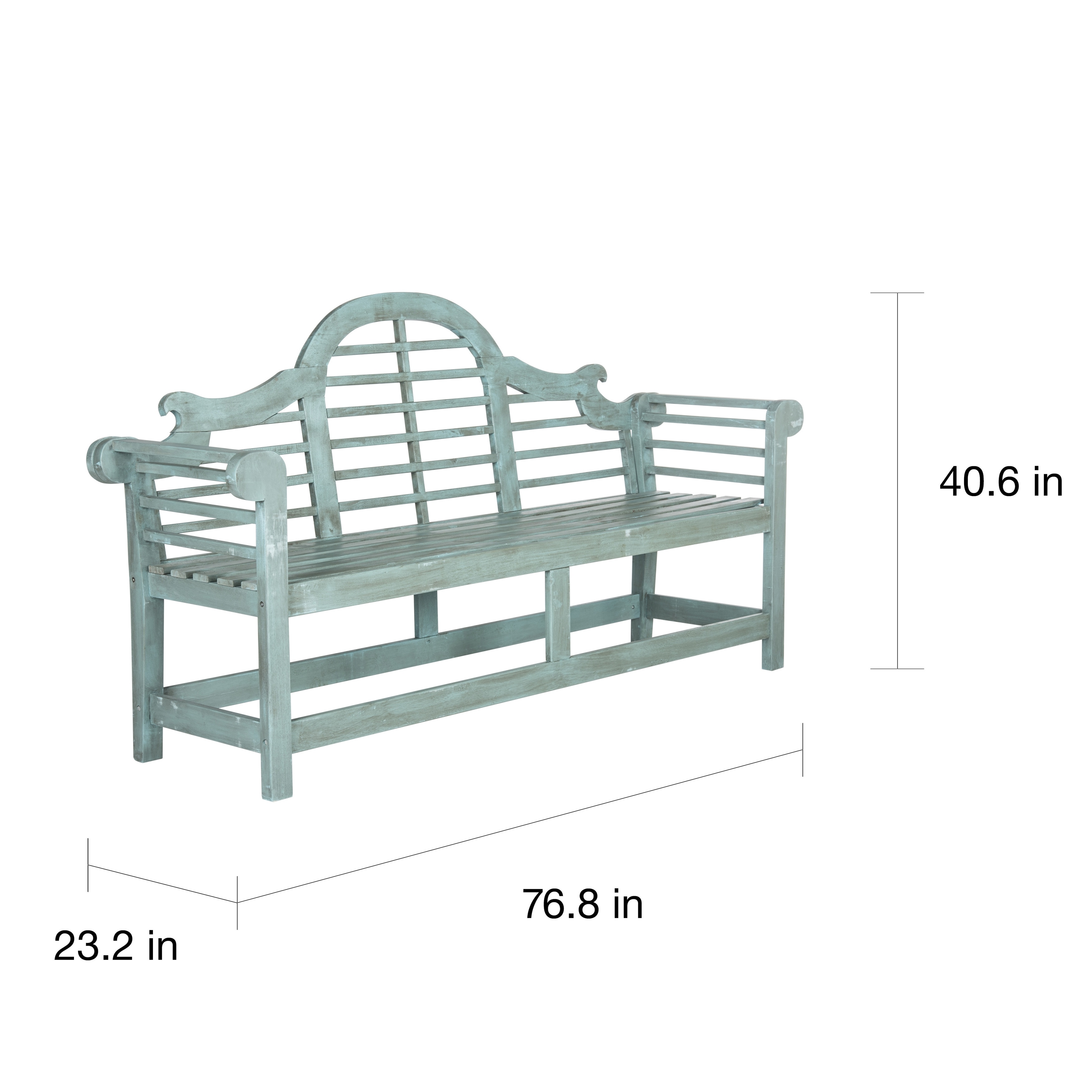 Safavieh Outdoor Living Khara Beach House Blue Bench   Free Shipping Today    Overstock   17413681