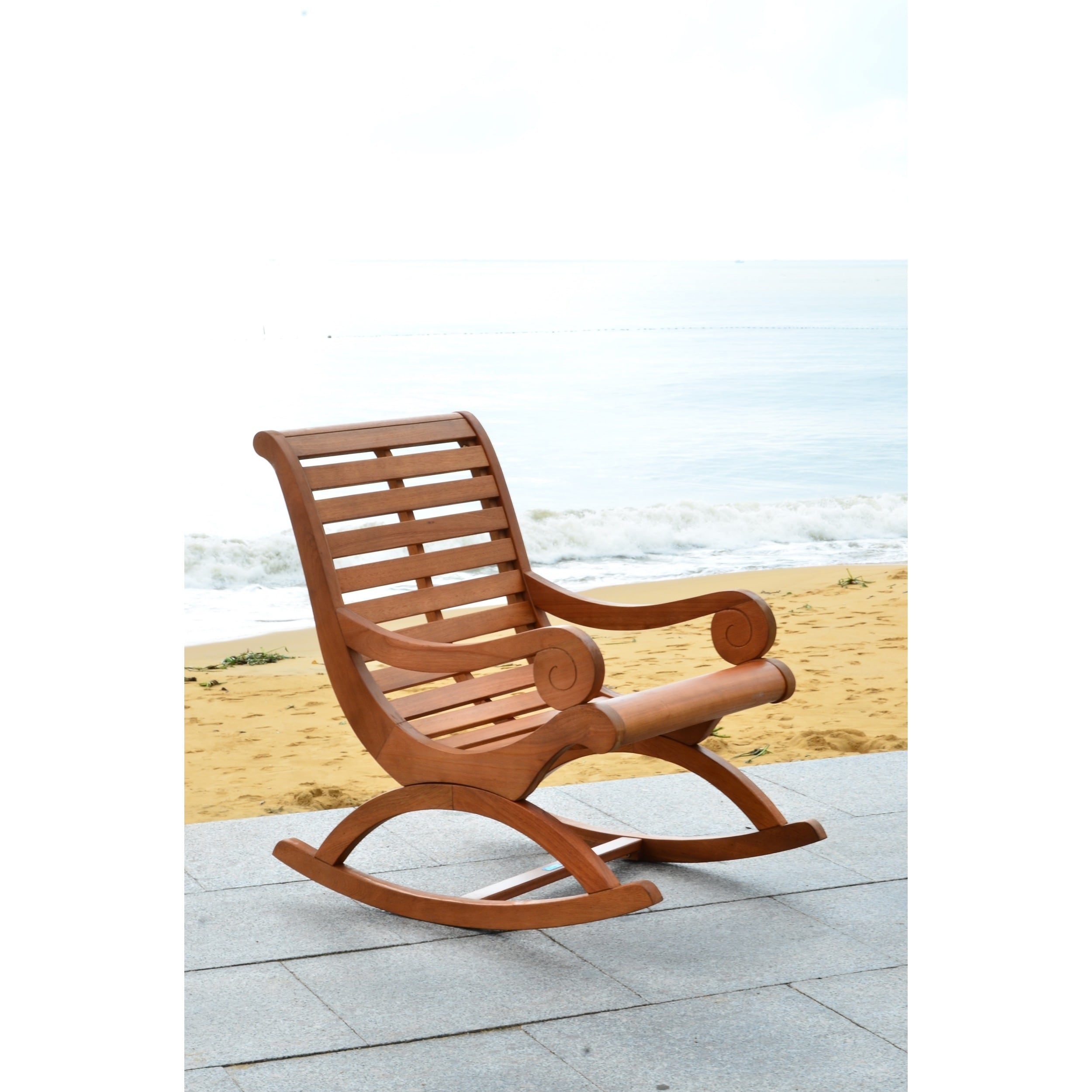 Bon Shop Safavieh Outdoor Living Sonora Brown Rocking Chair   Free Shipping  Today   Overstock.com   10300218