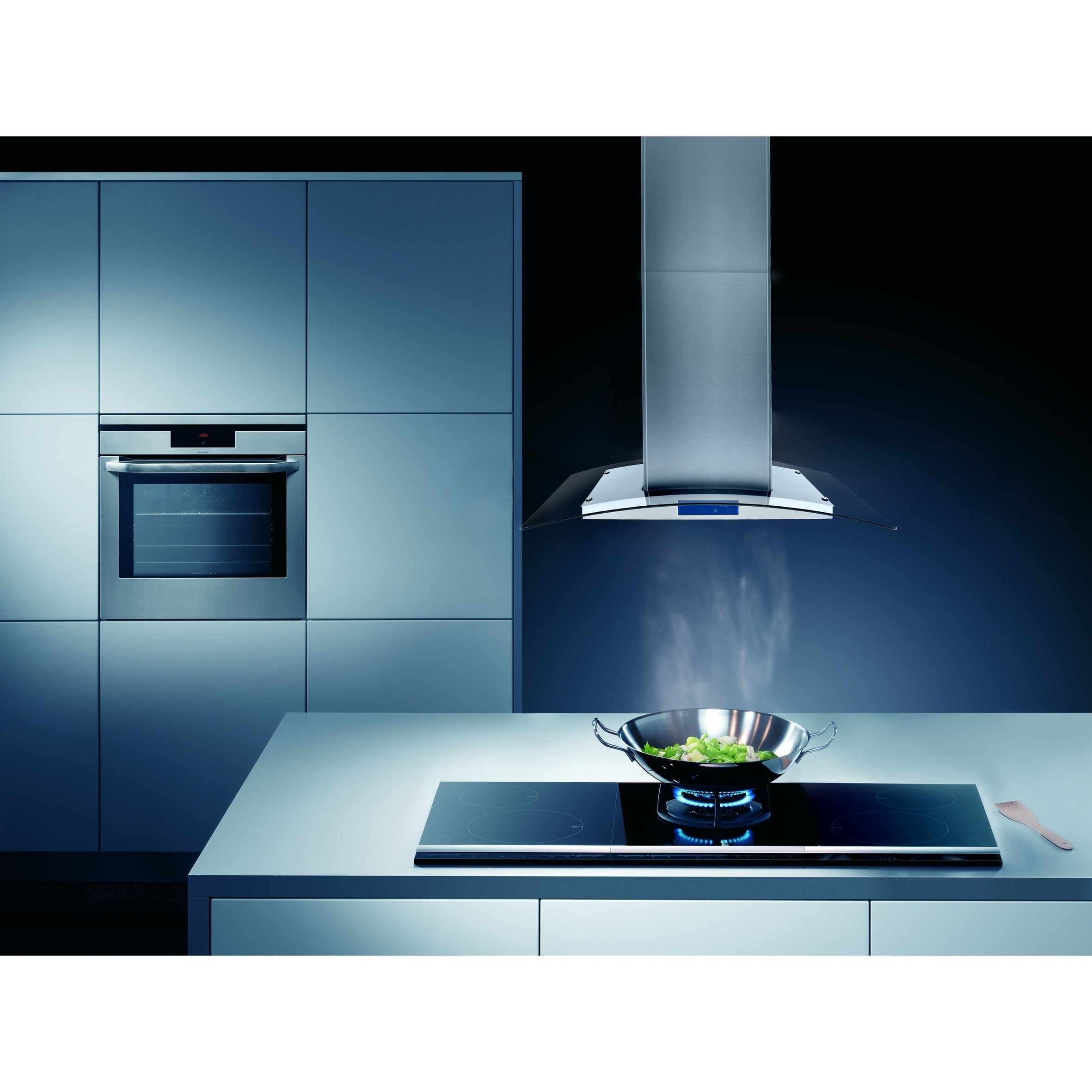 Shop Cosmo 36-inch Range Hood 900 CFM Ducted Island Mount Stainless ...