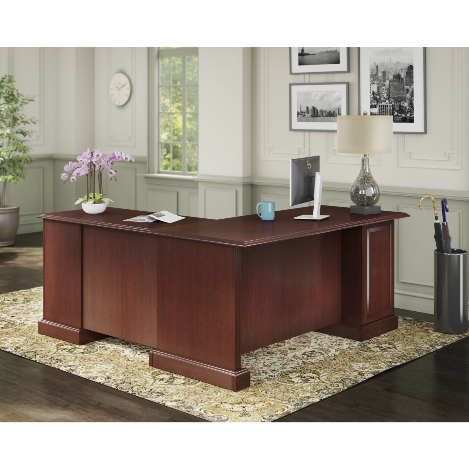 Kathy Ireland Office Bennington L Desk Free Shipping Today 17415350