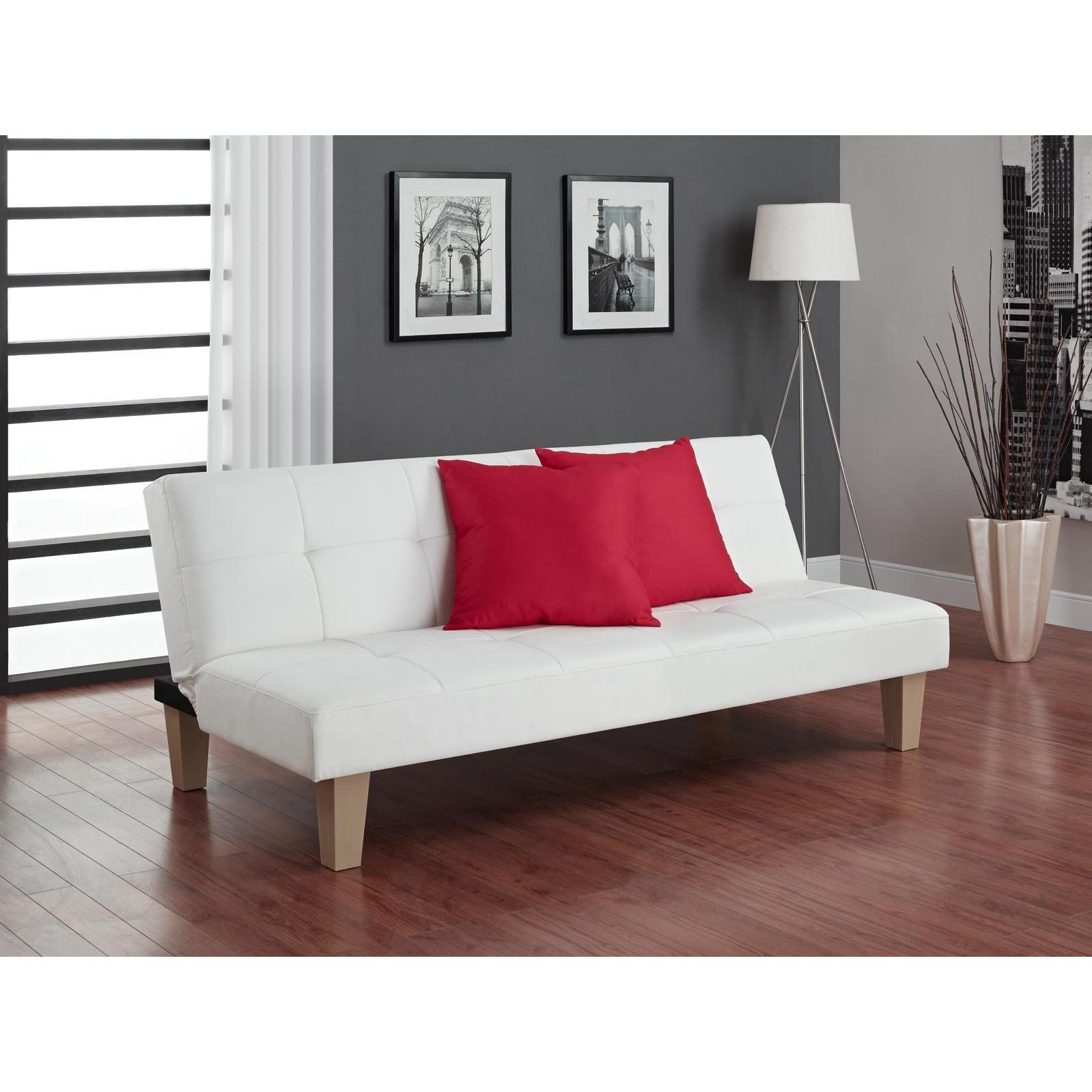 Avenue Greene Able White Futon Free Shipping Today Overstock