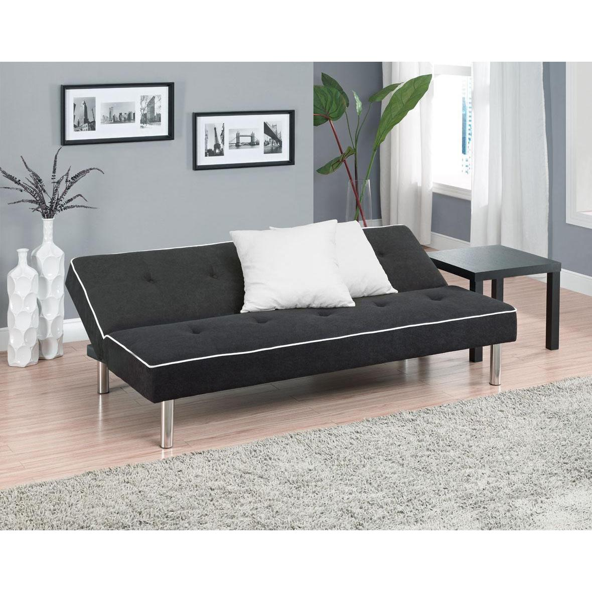 Dhp Charcoal Oxford Futon Free Shipping Today Com 10302381