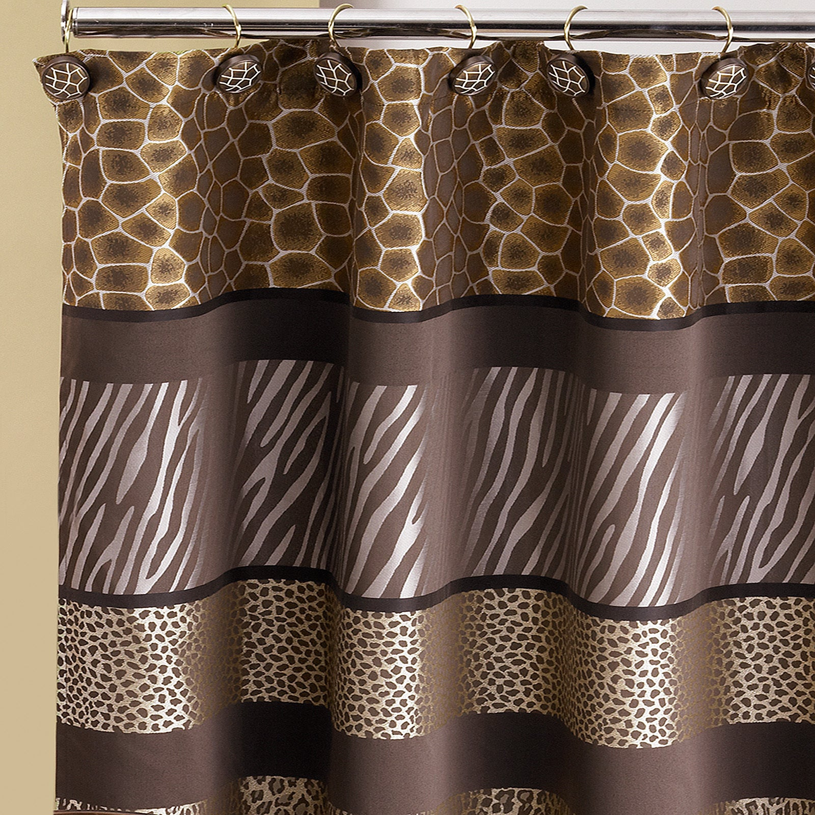 Exotic Animal Print Shower Curtain and Hooks Set or Separates ...