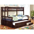 Furniture of America Rodman 2-piece Twin over Queen Bunk Bed Set with Trundle and Drawers