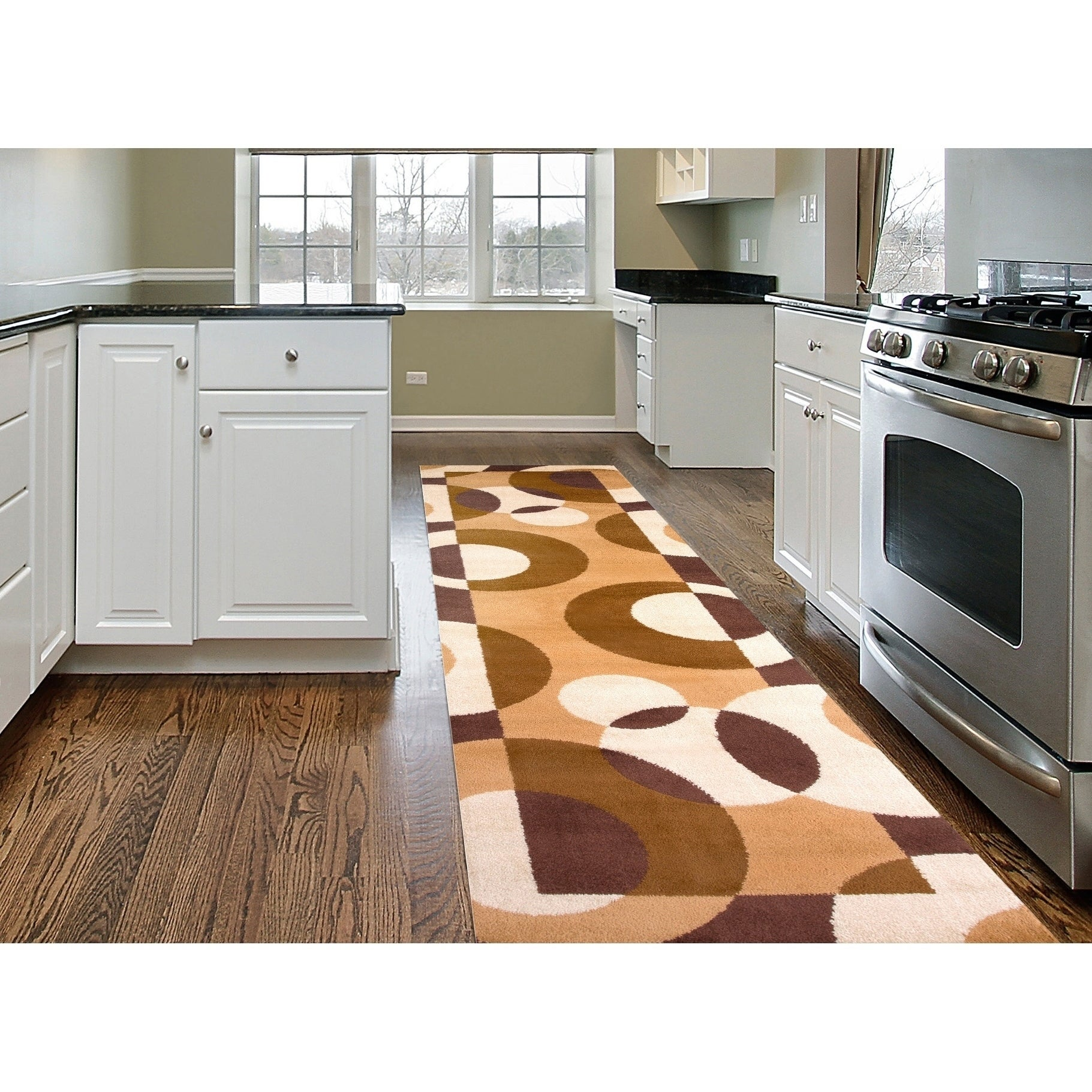 Shop Modern Circles Area Rug On Sale Free Shipping Today