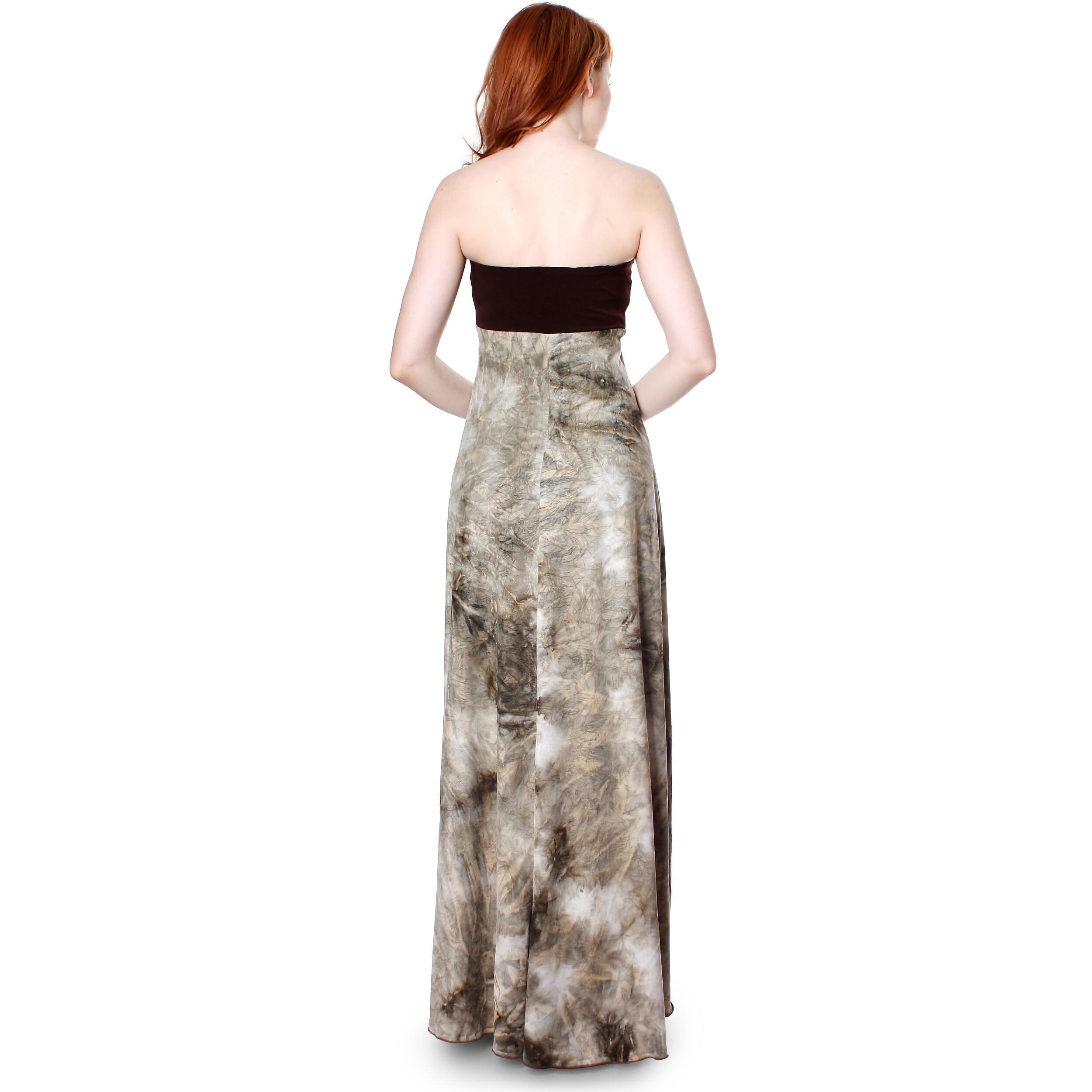 773641043fd Evanese Women s Summer Cocktail Strapless Tube Tie dye Print Maxi Long Dress