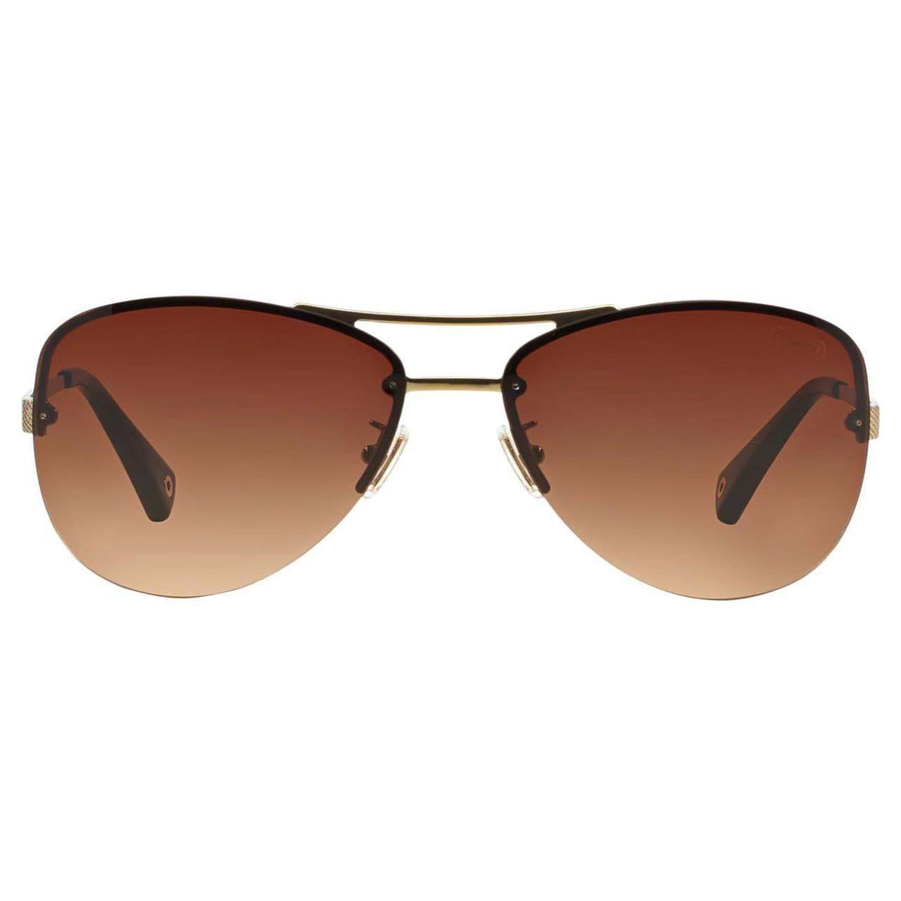 33bc328cd104 Shop Coach Women's HC7026 L056 Jasmine 909913 Metal Pilot Sunglasses - Gold  - Free Shipping Today - Overstock - 10305232