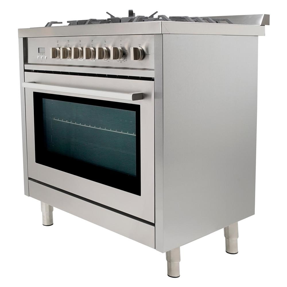 5de45fe99ff Shop Cosmo F965 36-inch Freestanding  Slide-in Dual Fuel Range - Free  Shipping Today - Overstock - 10306094