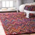 nuLOOM Casual Handmade Modern Multi Cotton Runner Rug (2'6 x 8')