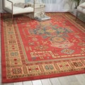 Nourison Maymana Red Rug (3'9 x 5'9)