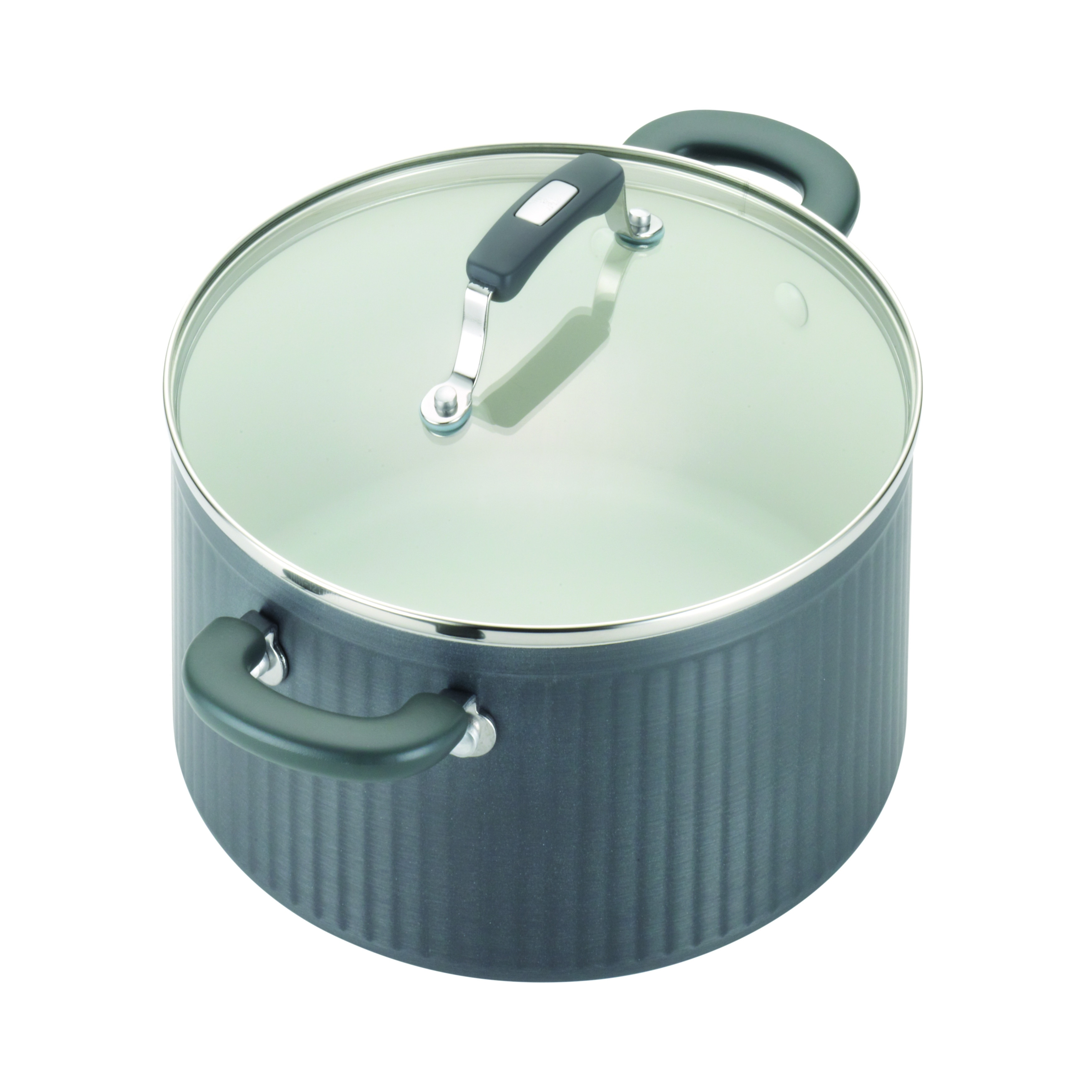 Paula Deen Savannah Collection Hard Anodized Nonstick 10 Piece Cookware Set Gray Free Shipping Today 17422222