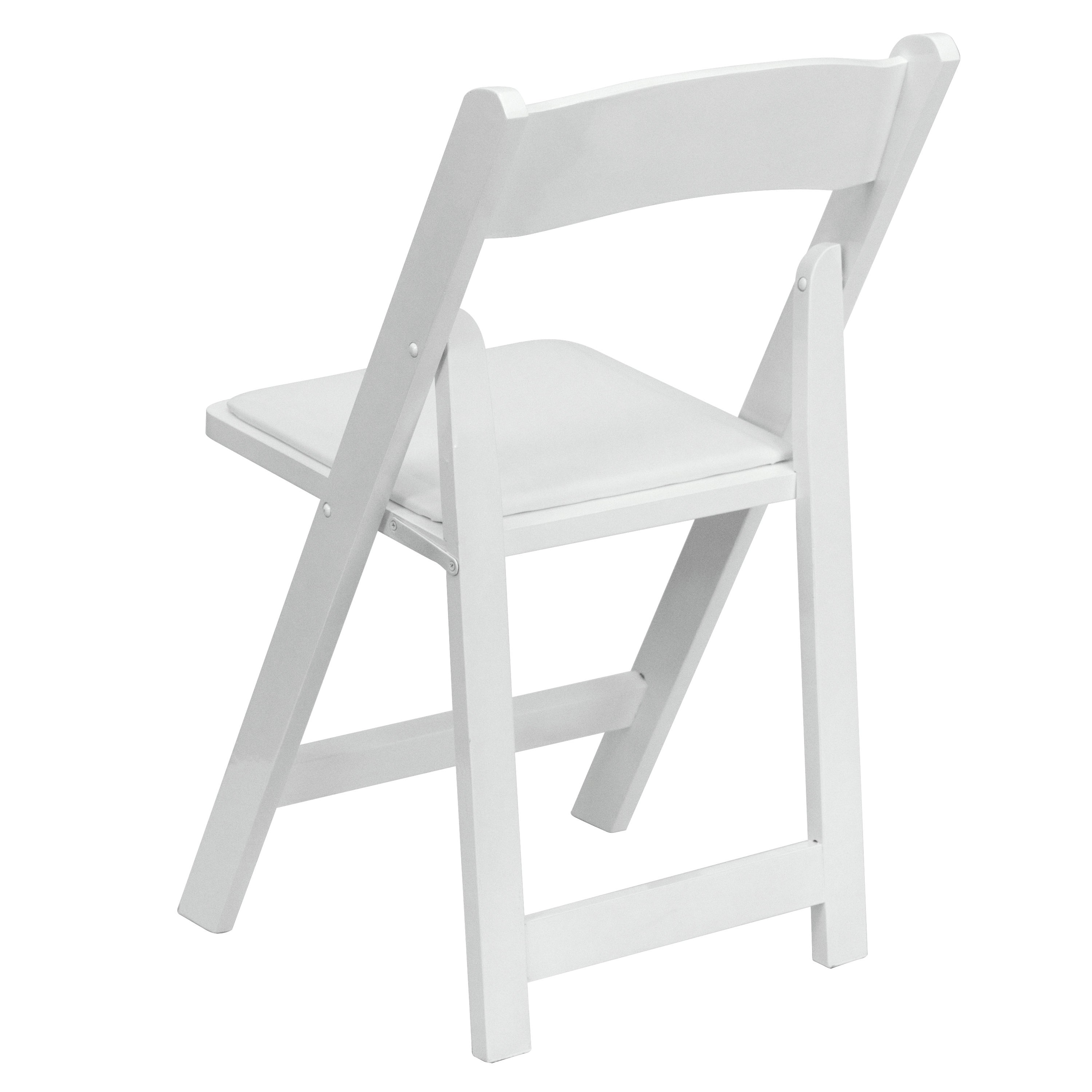 Helicon White Wood Folding Chairs Free Shipping Today