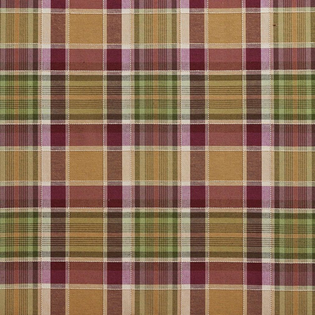 Shop B0020e Purple And Green Country Plaid Upholstery Fabric Free