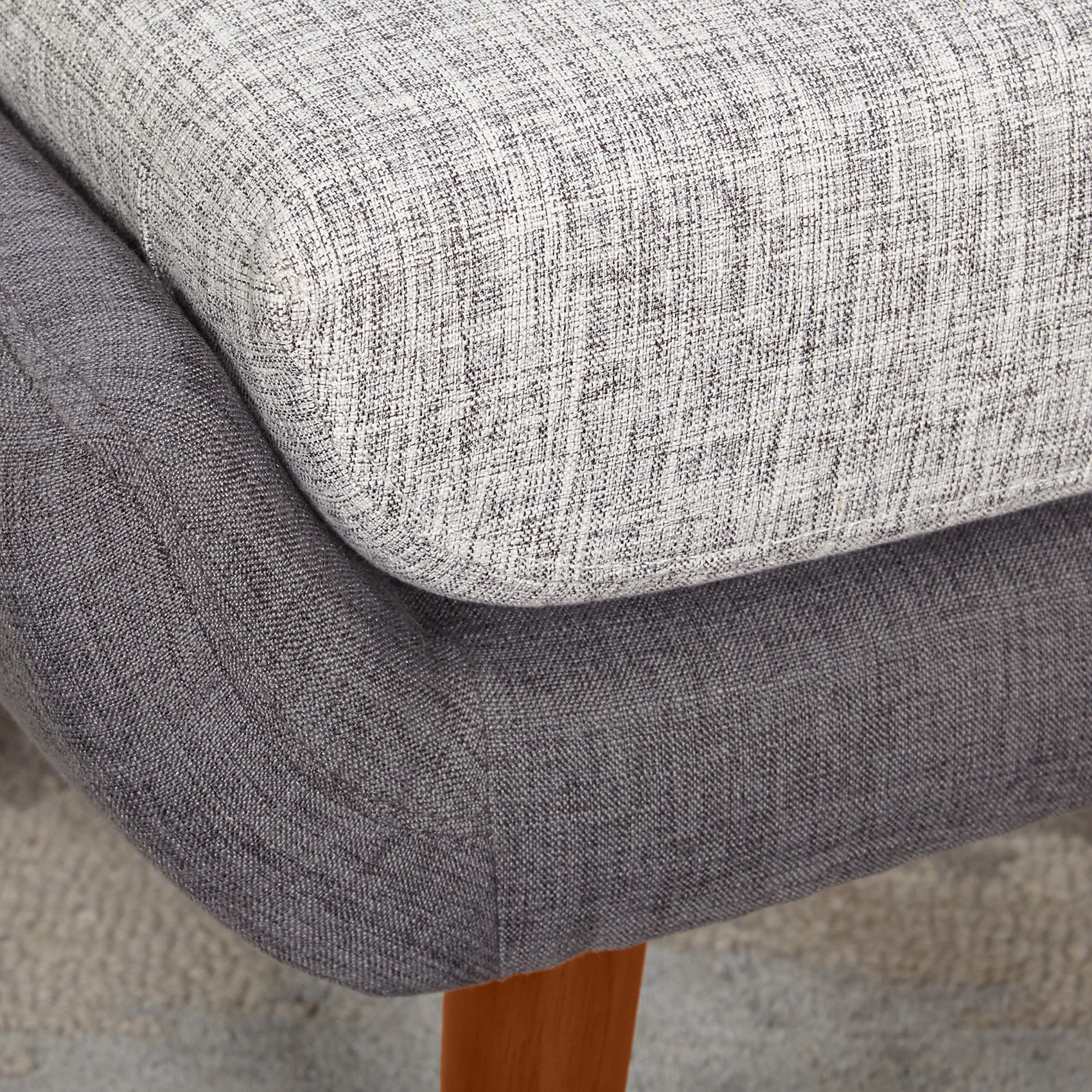 Shop Simple Living Elijah Mid Century Gray Chair And Ottoman Set   Free  Shipping Today   Overstock.com   10313865