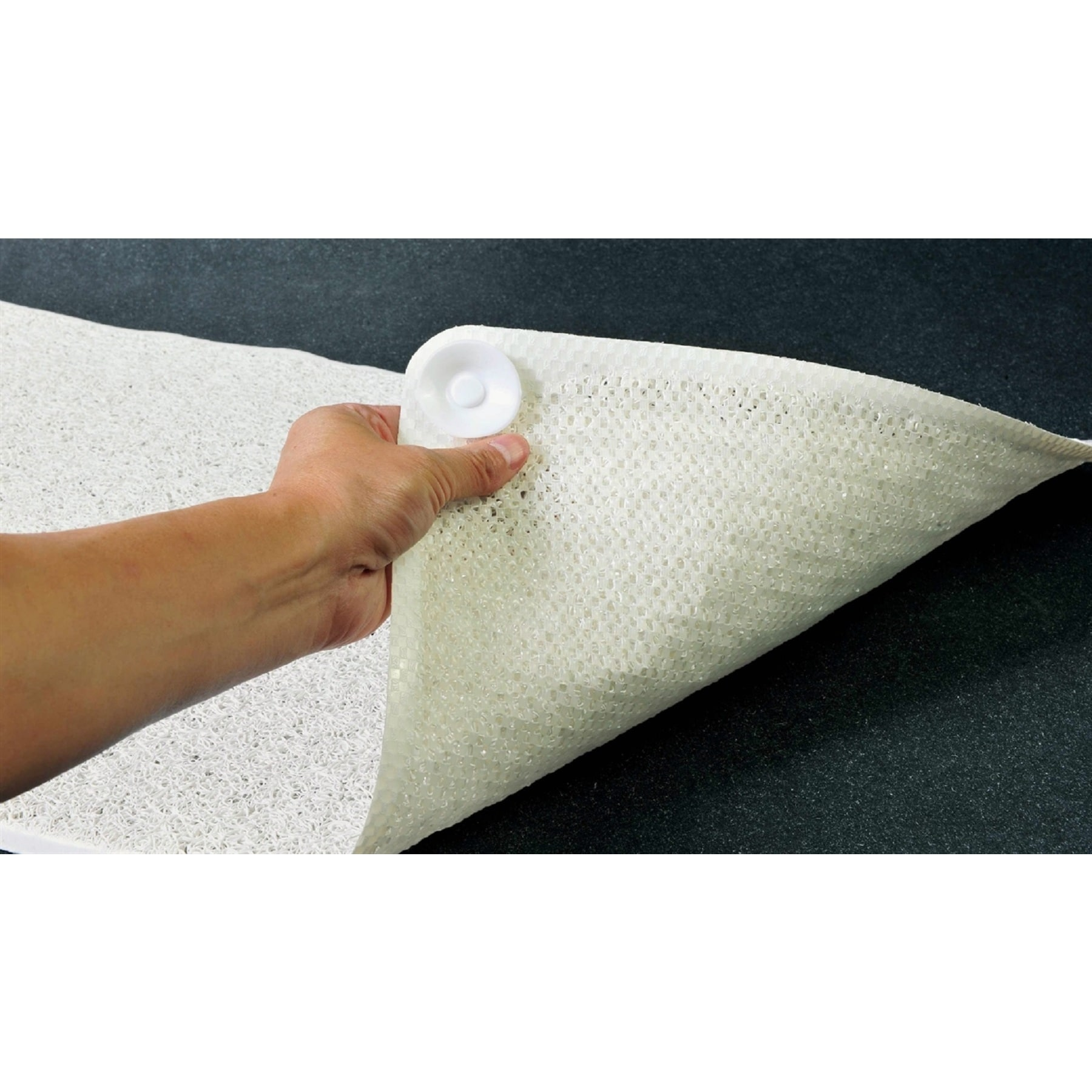 Shop Two Elephants White Plush and Soft Shower Floor Mat - Free ...