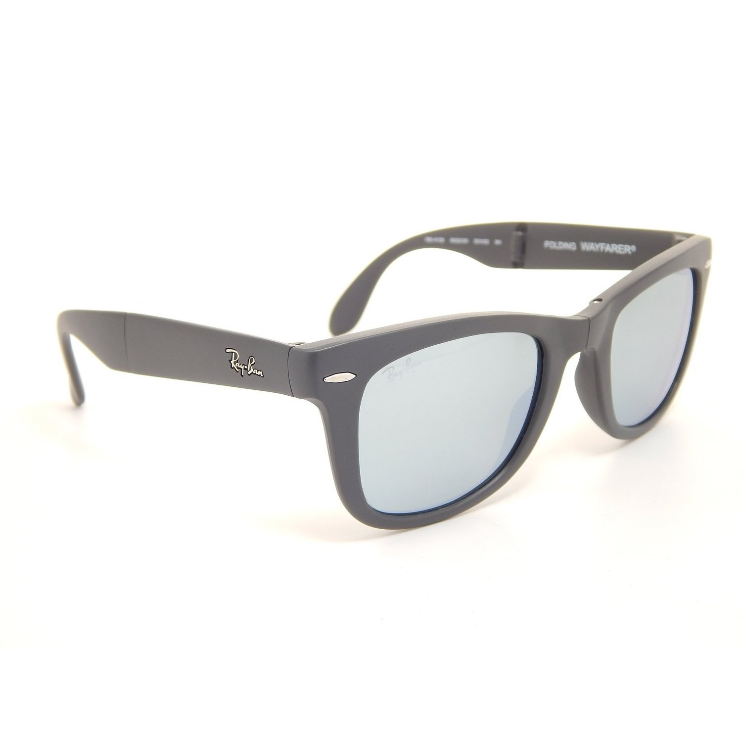 2420676557 Shop Ray-Ban Folding RB4105 Matte Black Grey Mirrored Wayfarer Sunglasses -  Free Shipping Today - Overstock - 10314347