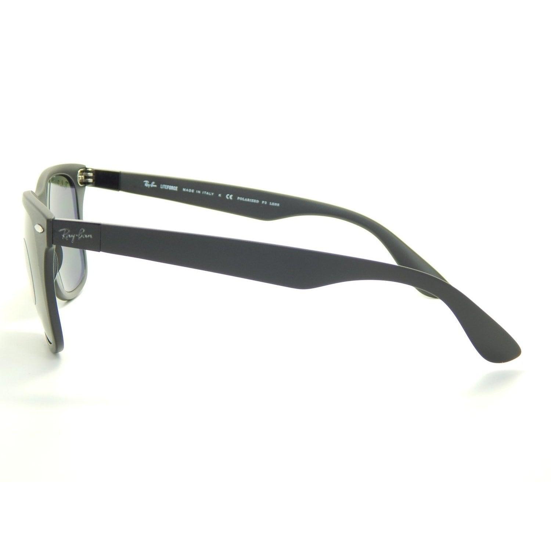 4fecdc185e Shop Ray-Ban Wayfarer Liteforce Tech RB4195 Black Frame Green Polarized  Lens Sunglasses - Free Shipping Today - Overstock - 10314356