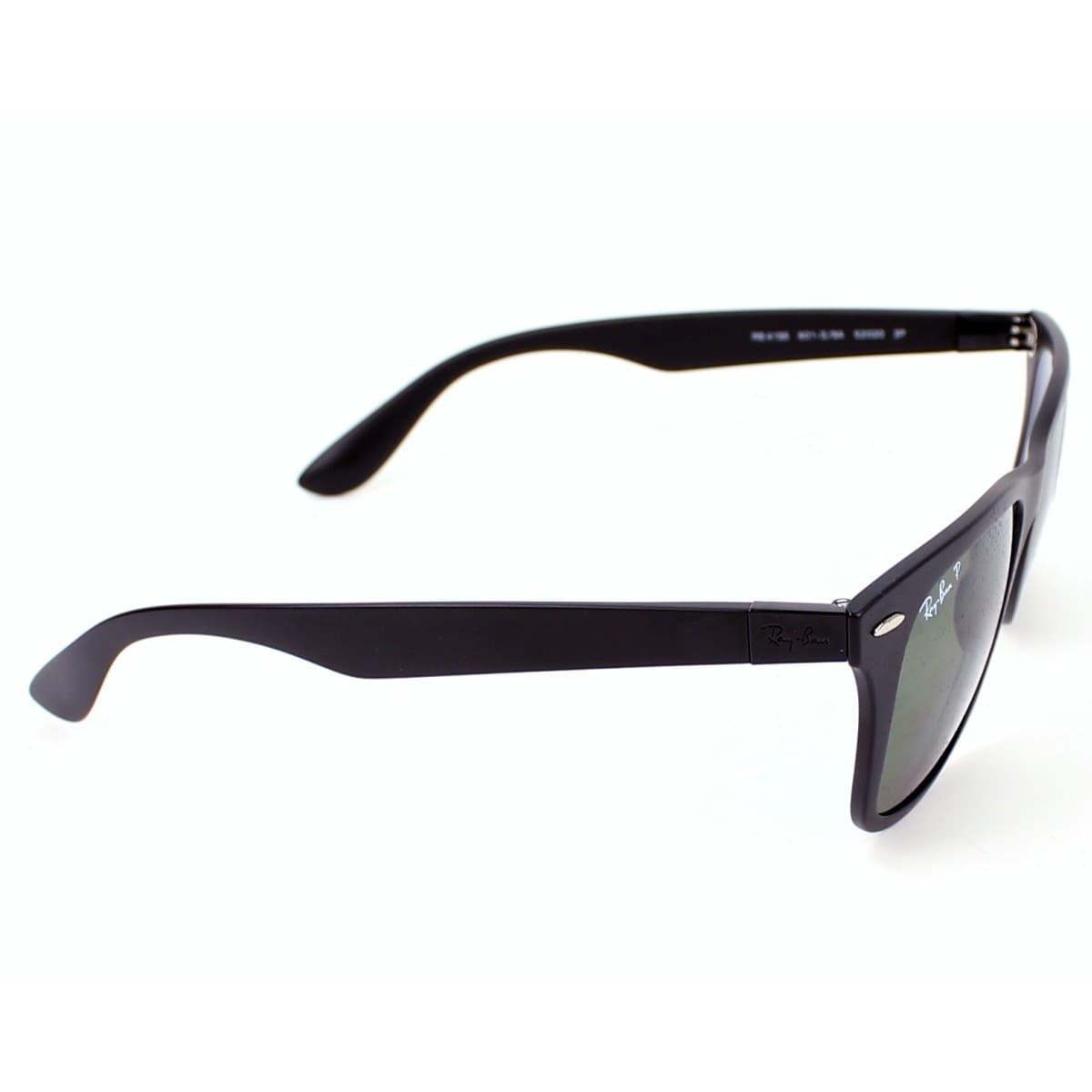003720e8b Shop Ray-Ban Wayfarer Liteforce Tech RB4195 Black Frame Green Polarized  Lens Sunglasses - Free Shipping Today - Overstock - 10314356