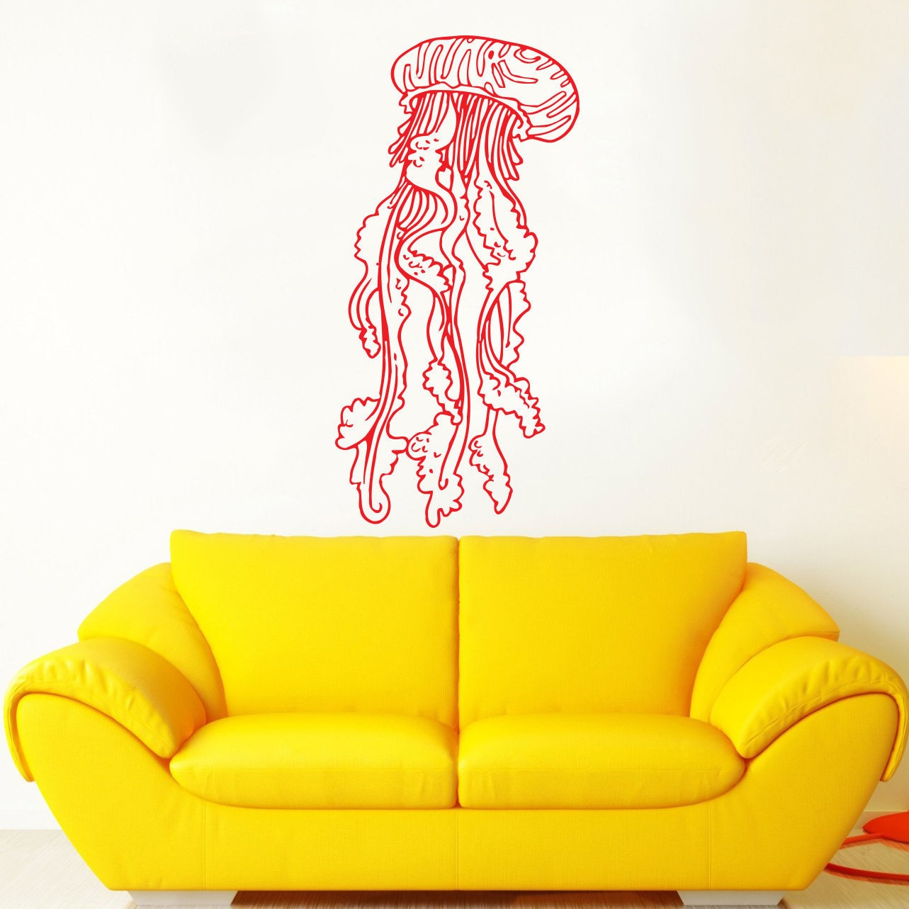 Jellyfish Red Vinyl Sticker Wall Art - Free Shipping On Orders Over ...