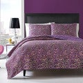 Betsey Johnson Multi Leopard Cotton 3-piece Quilt Set