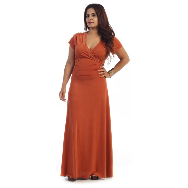 Shop Womens Plus Size Short Sleeve Maxi Dress Free Shipping Today