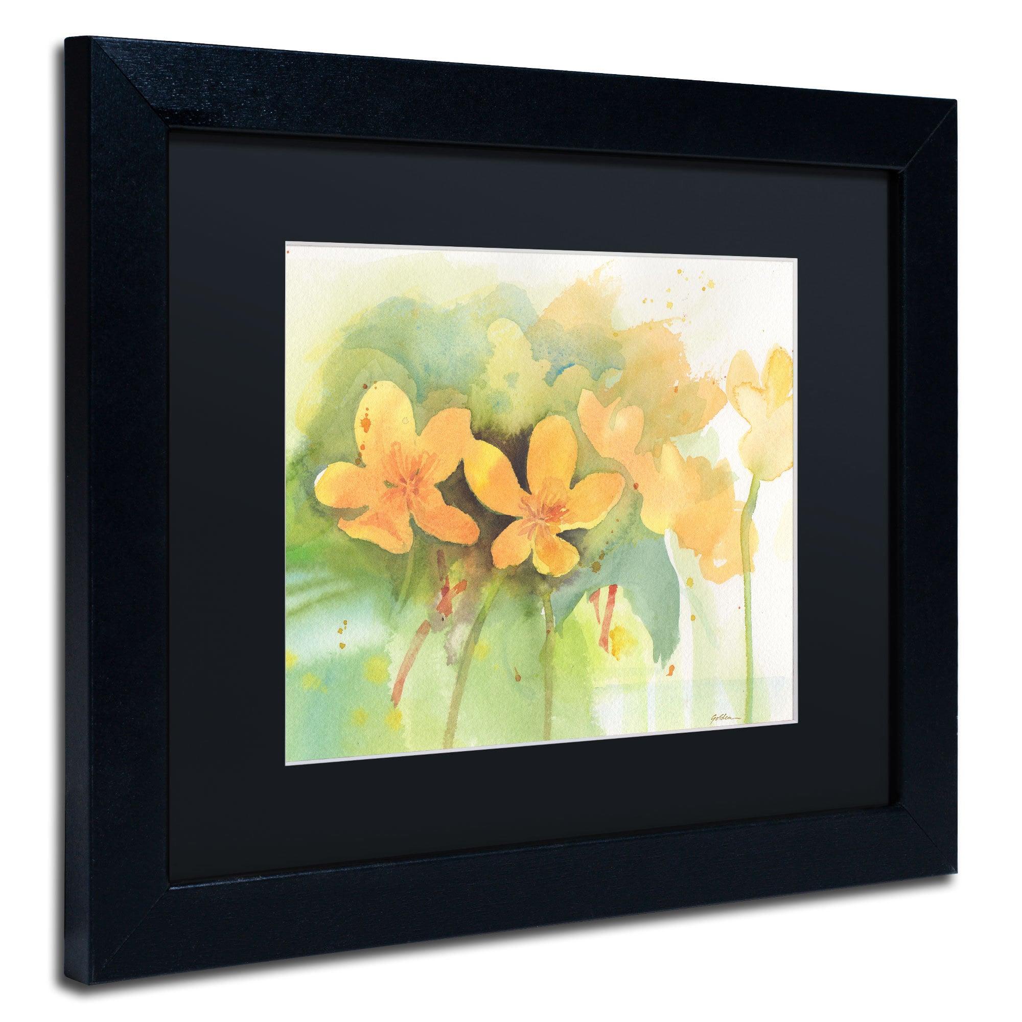 Sheila Golden \'Marigold Moment\' Framed Canvas Wall Art - Free ...