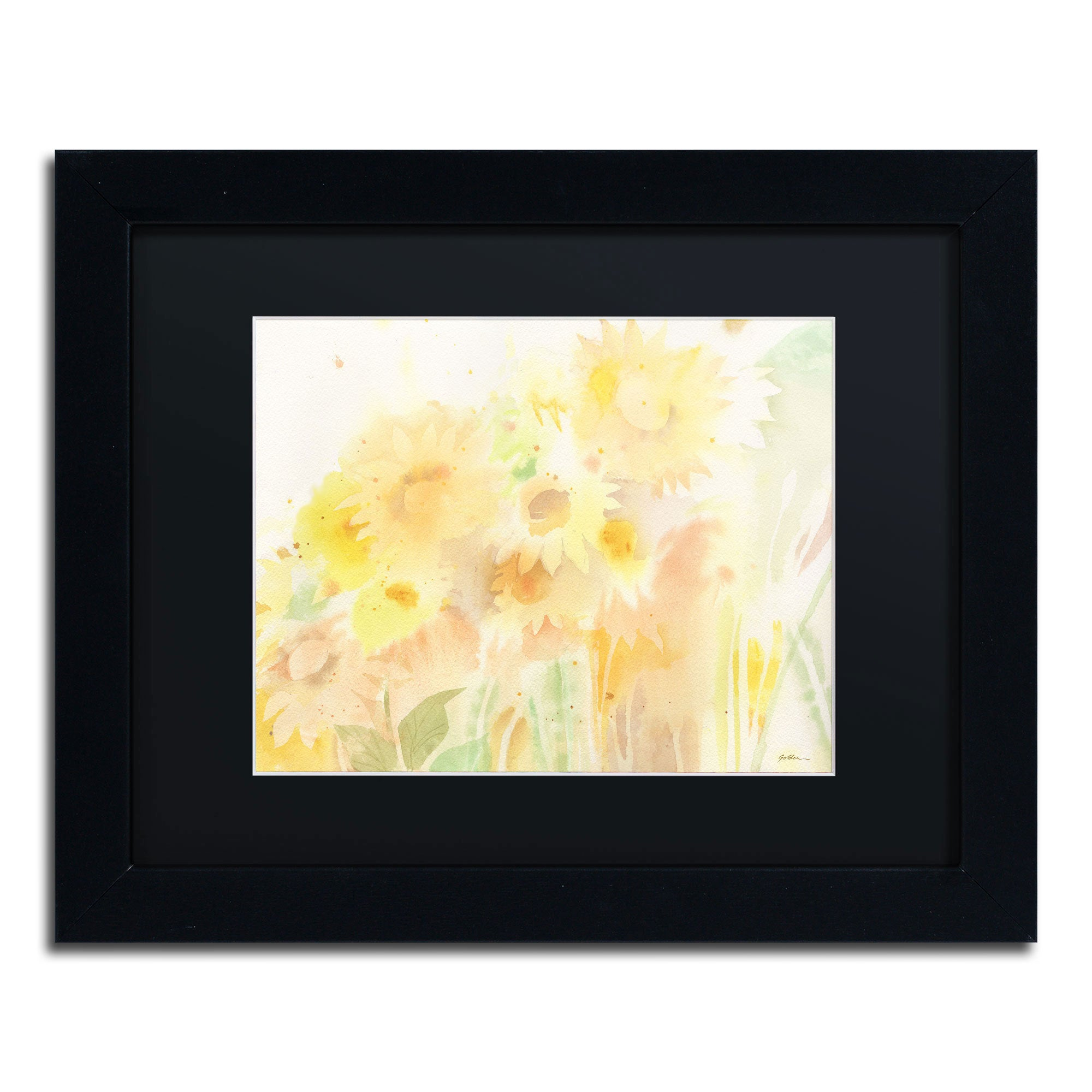 Sheila Golden \'Amid Sunflowers\' Framed Canvas Wall Art - Free ...