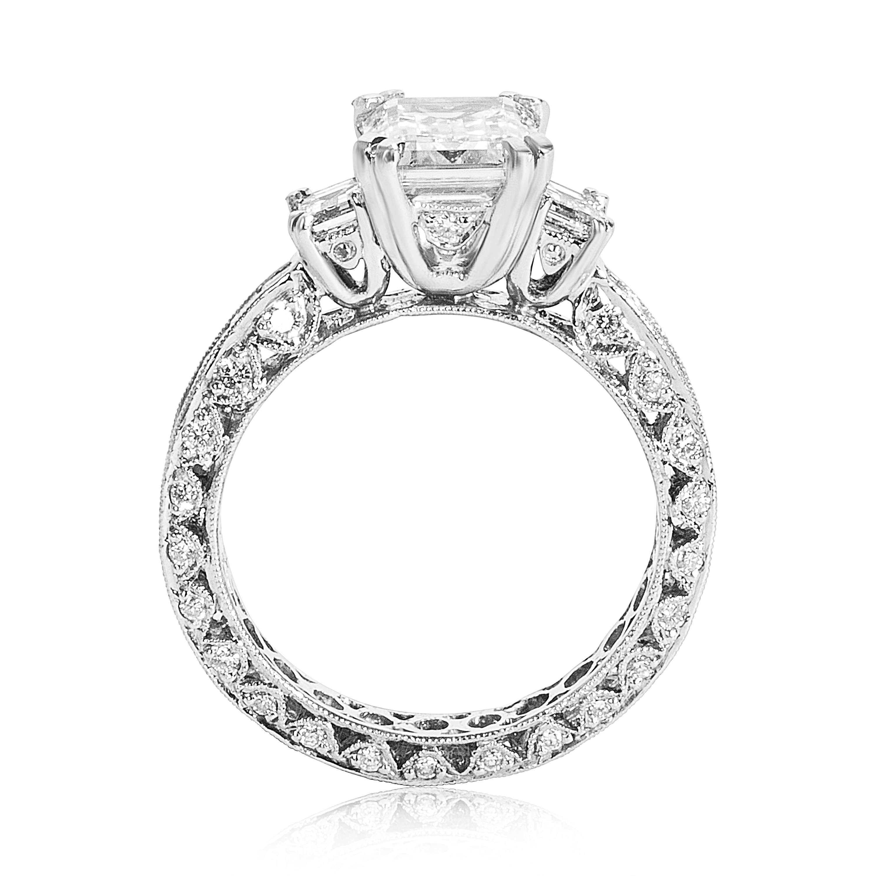 diamond collection mounted layout clipped sylvie rings engagement