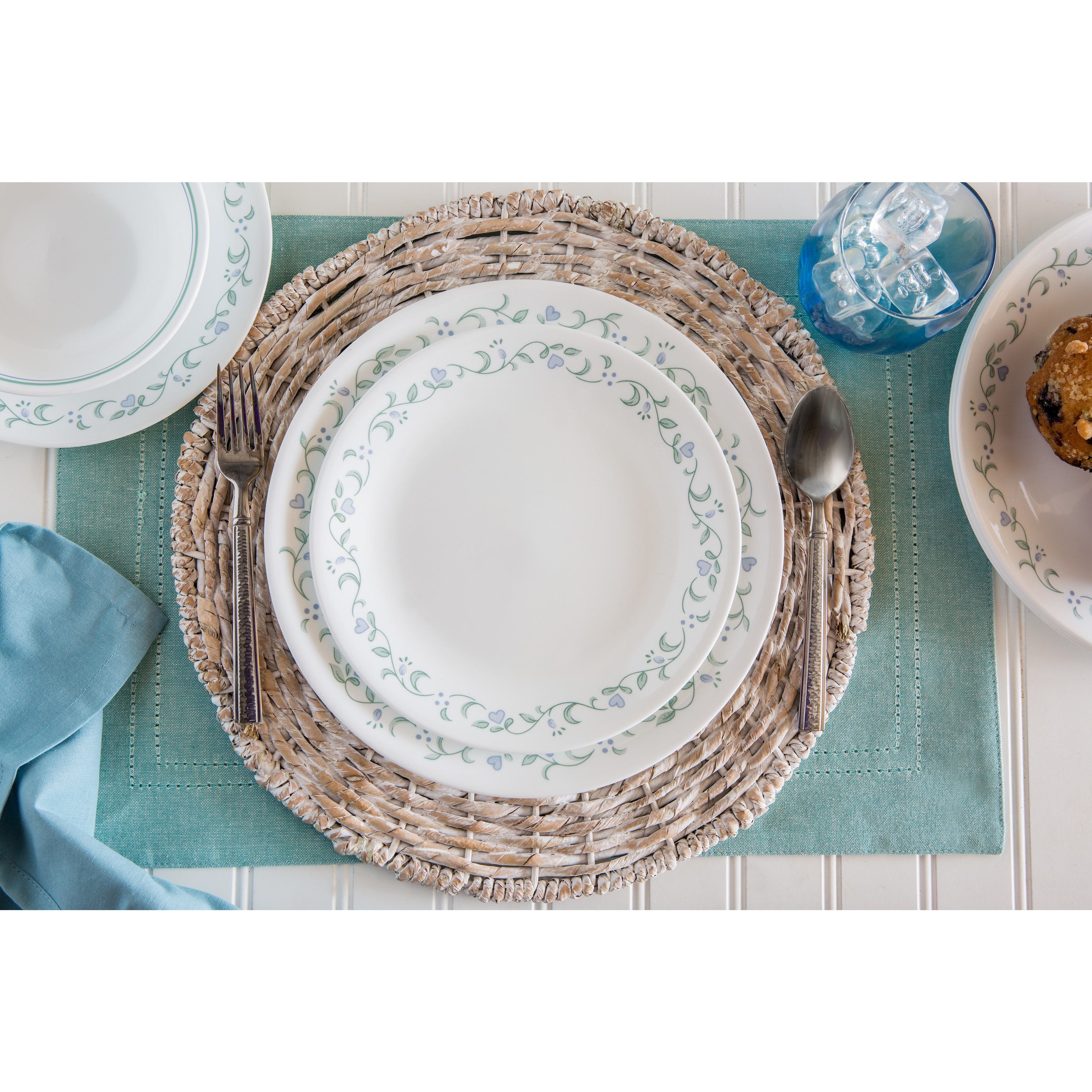 set corelle uk dp kitchen cottage winter piece quality dinnerware dishes amazon superior cottages livingware home service frost white co country for