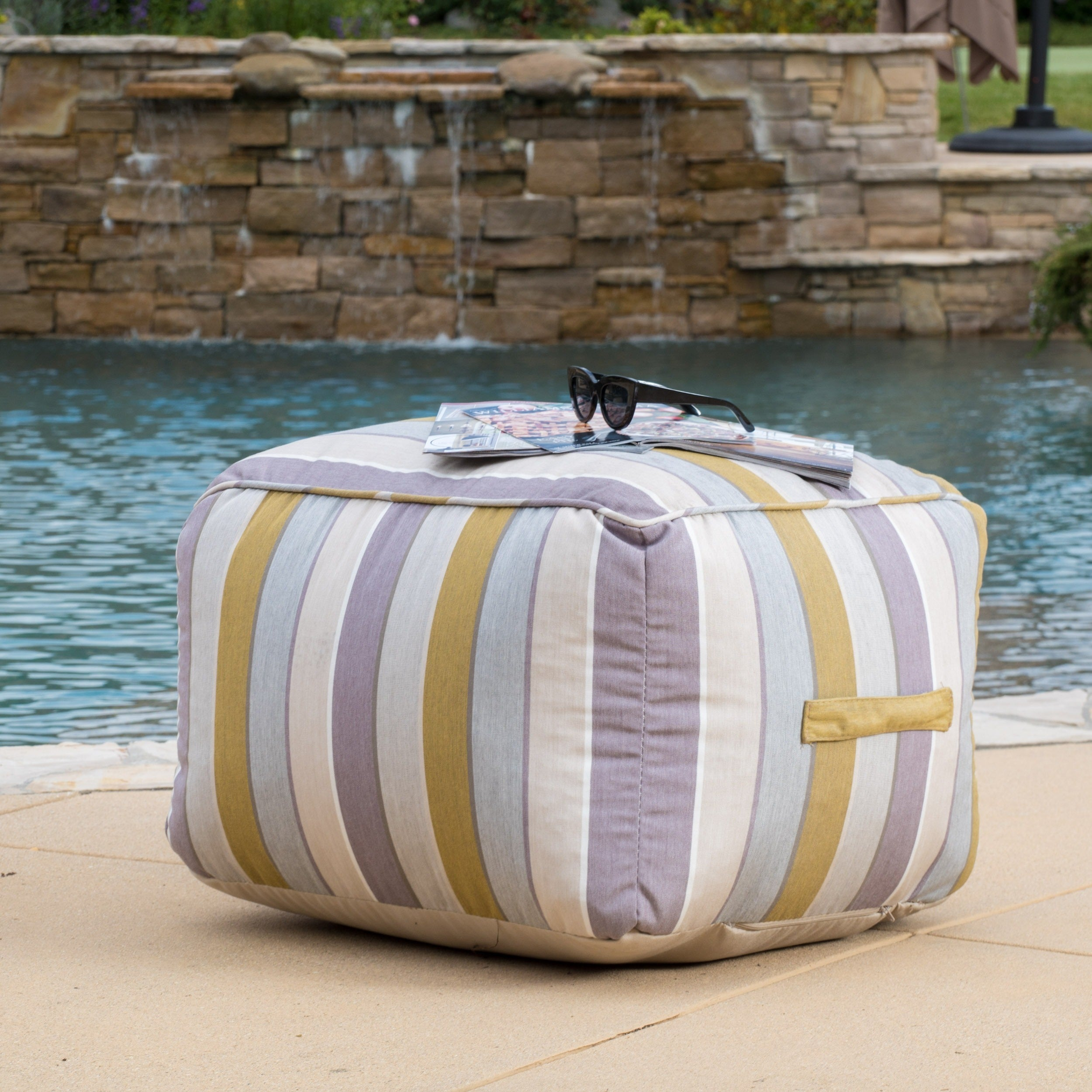 Peyton Outdoor Sunbrella Lounge Beanbag Chair By Christopher Knight Home