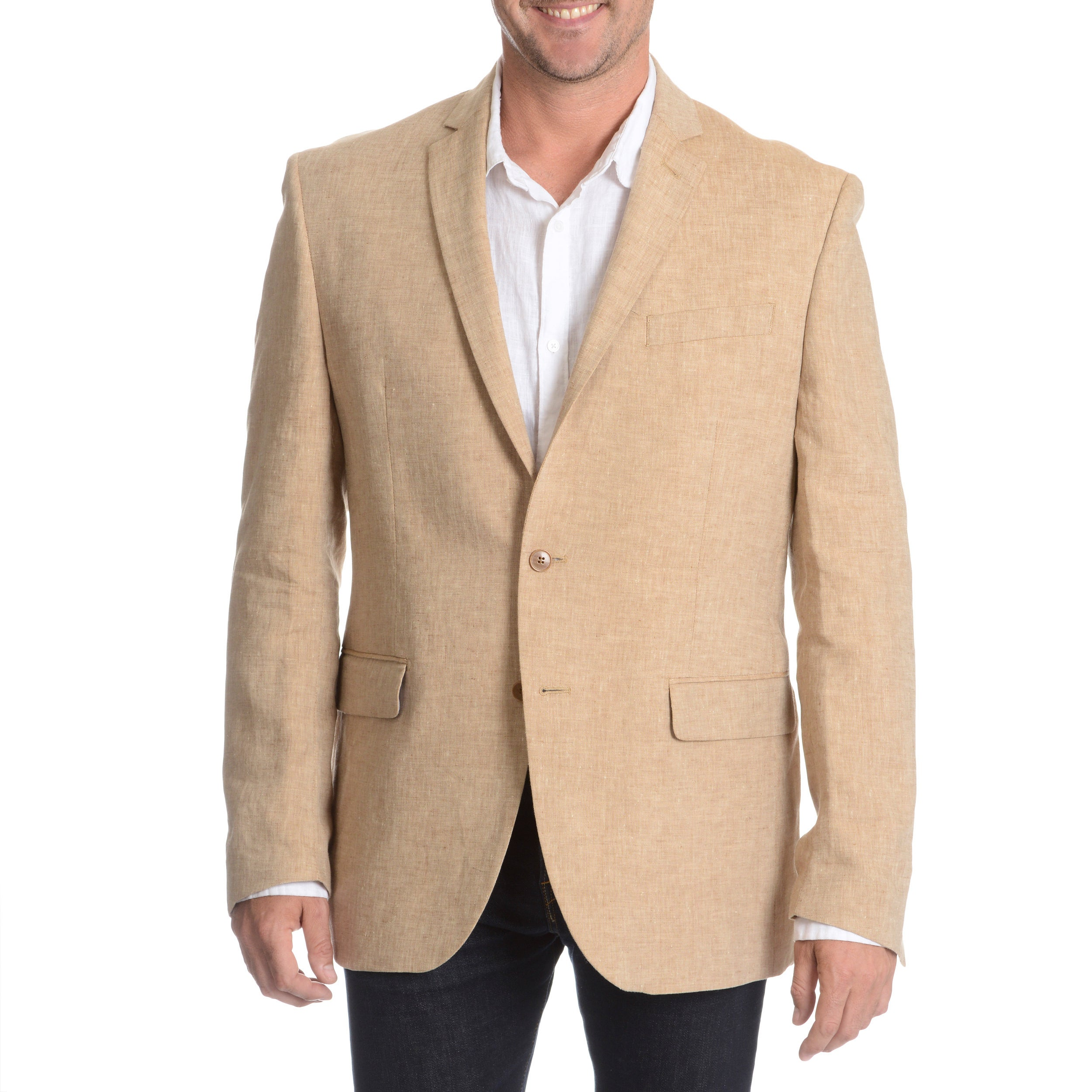 ecd33dc7564e Shop Daniel Hechter Men's Tan Linen Sport Coat - Free Shipping Today ...