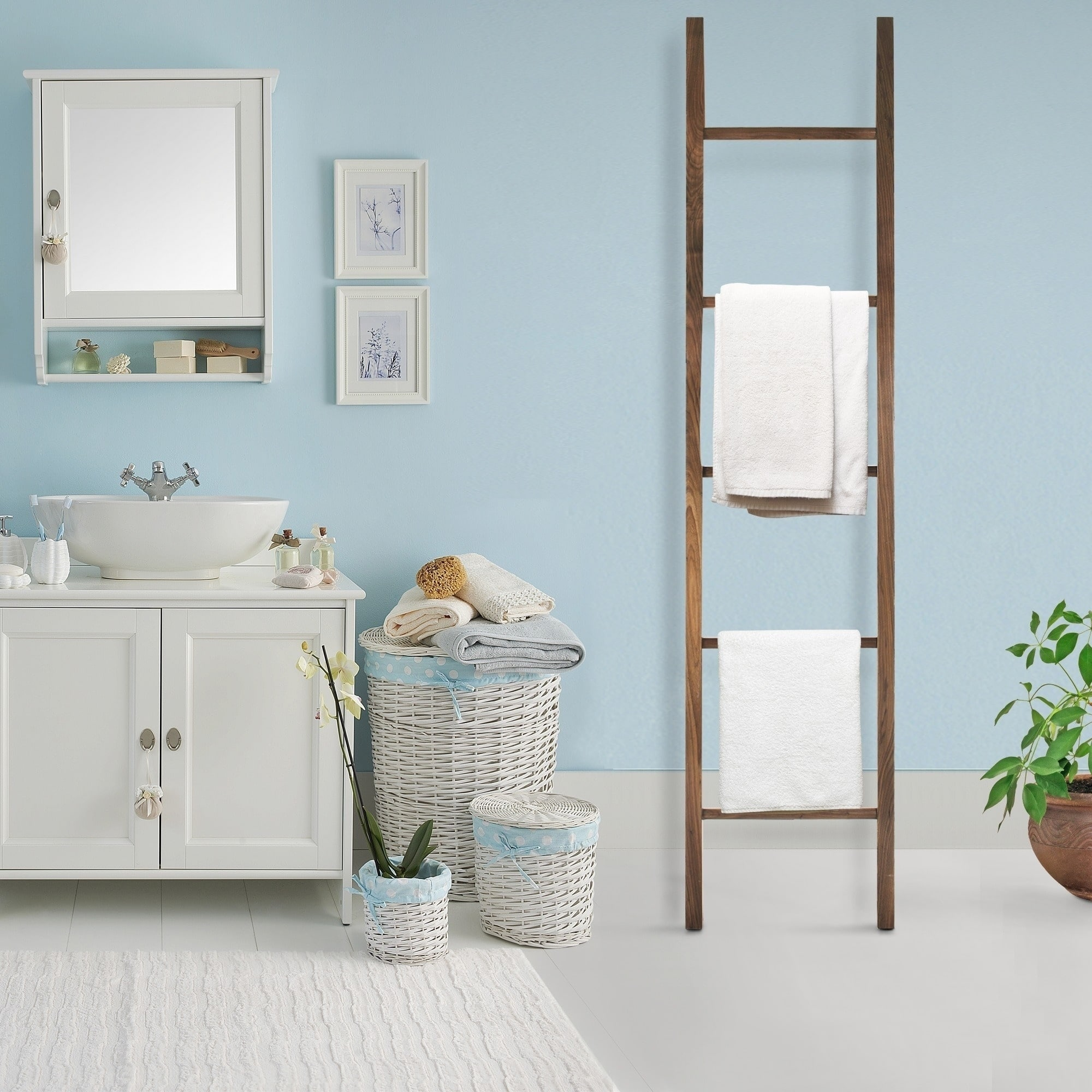 Shop American Trails Solid Maple Decorative Ladder - Free Shipping ...