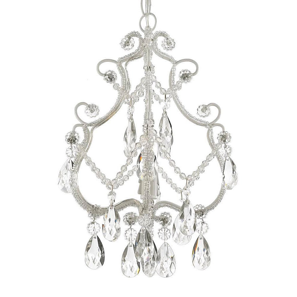 white product style acrylic chandelier arm crystal gypsy boho design and solid crystals chic iron