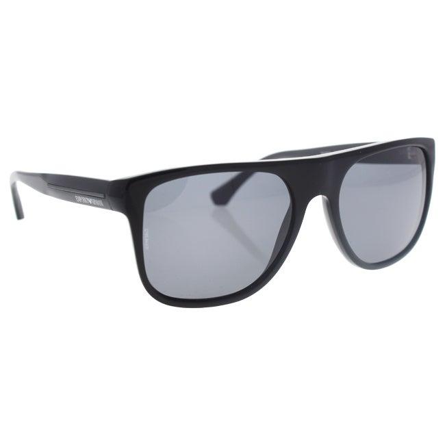 c59b685c5f1 Shop Emporio Armani Men s EA4014 Plastic Square Polarized Sunglasses - Black  - Free Shipping Today - Overstock - 10324696