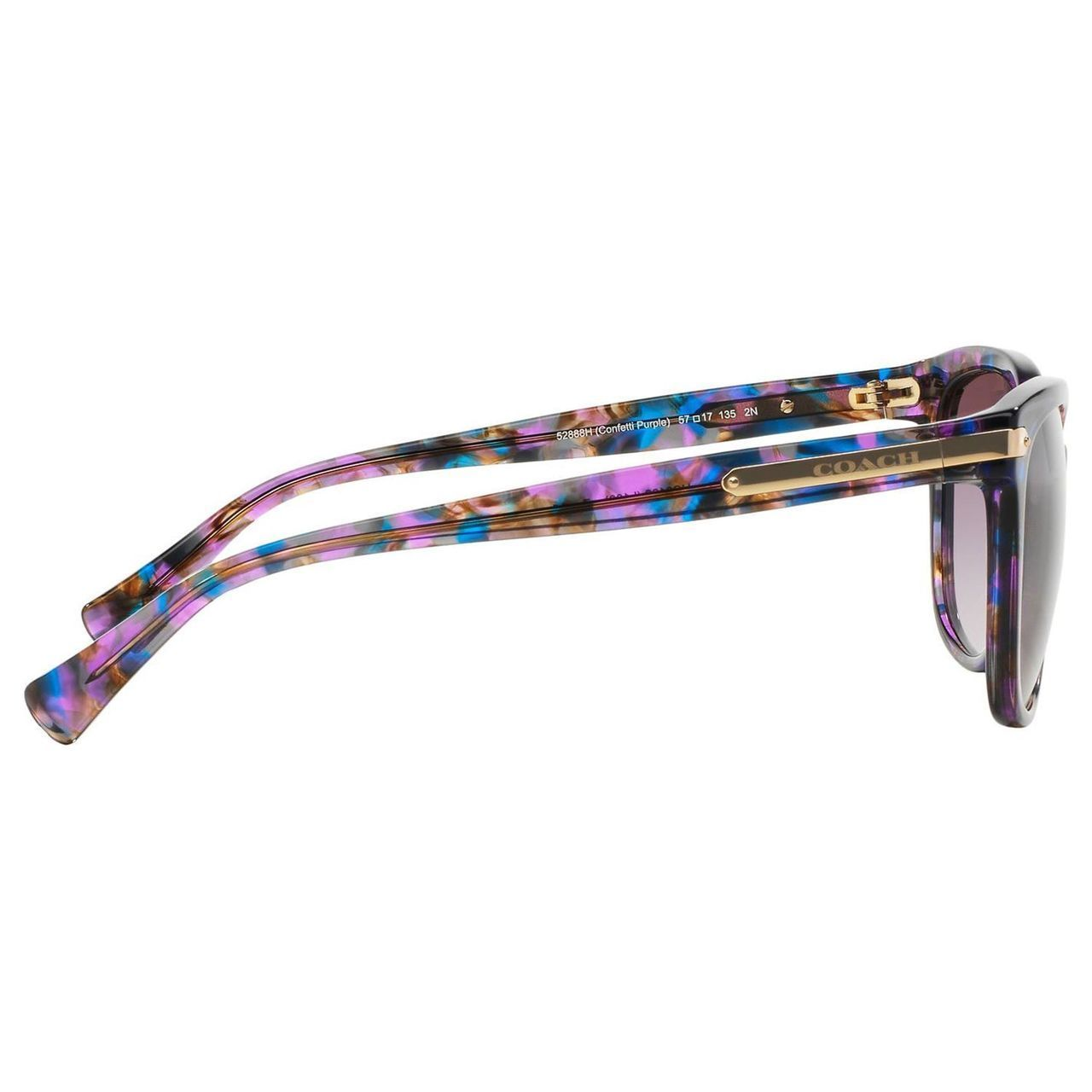 6b68188dcebb ... czech shop coach womens hc8132 l109 52888h plastic cat eye sunglasses  purple free shipping today overstock