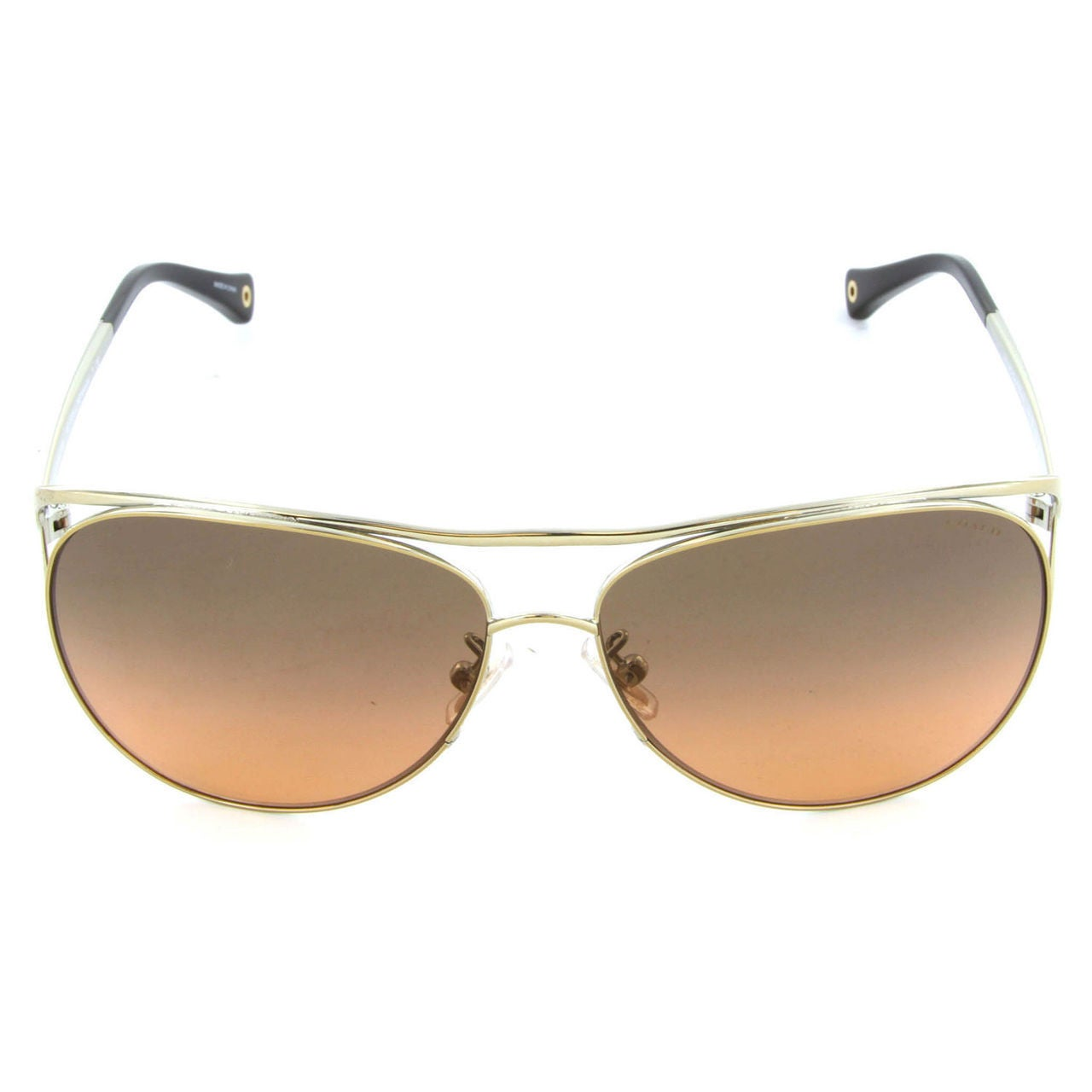 28bb6ddc7231 Shop Coach Women's HC7036 L069 Natalie 905395 Metal Pilot Sunglasses - Gold  - Free Shipping Today - Overstock - 10324906