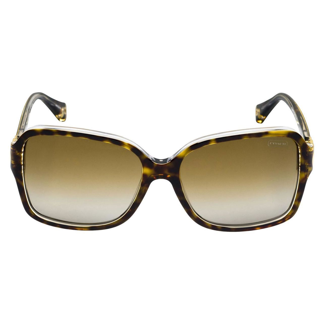 025947c8d0825 Shop Coach Women s HC8009 Frances 5049T5 Plastic Square Polarized Sunglasses  - Tortoise - Free Shipping Today - Overstock - 10324915