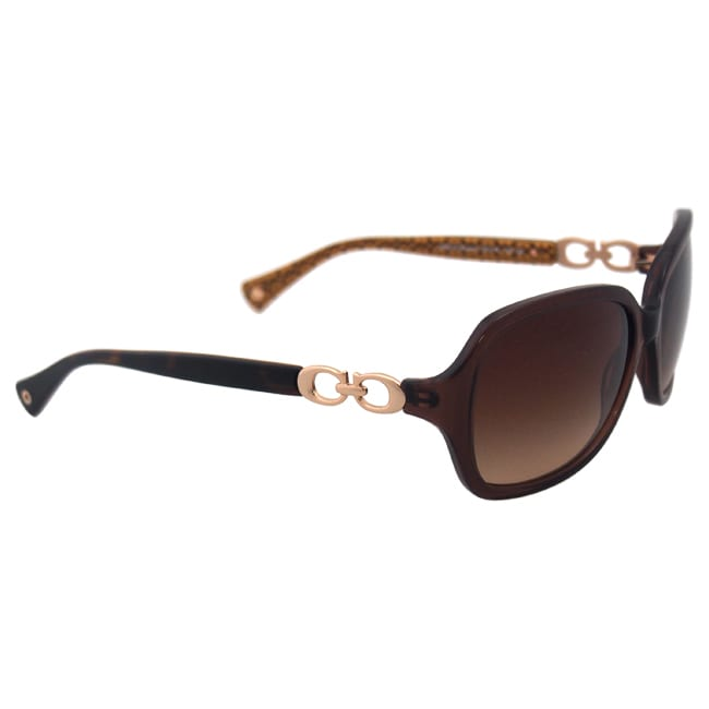94d484005e ... authentic shop coach womens hc8019 beatrice 503513 sunglasses brown free  shipping today overstock 10324940 5e673 76fbb