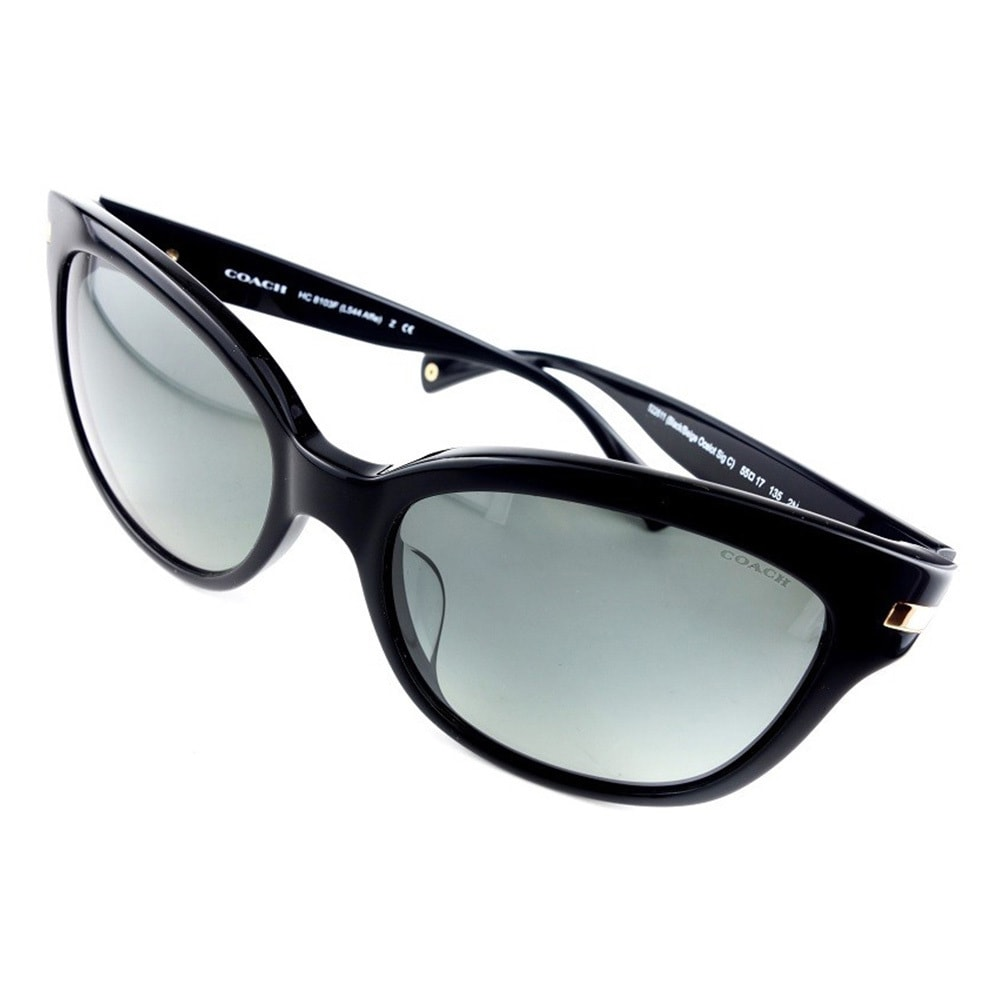 15e05ea08643 ... netherlands shop coach womens hc8103f l544 alfie 522611 plastic square sunglasses  black free shipping today overstock