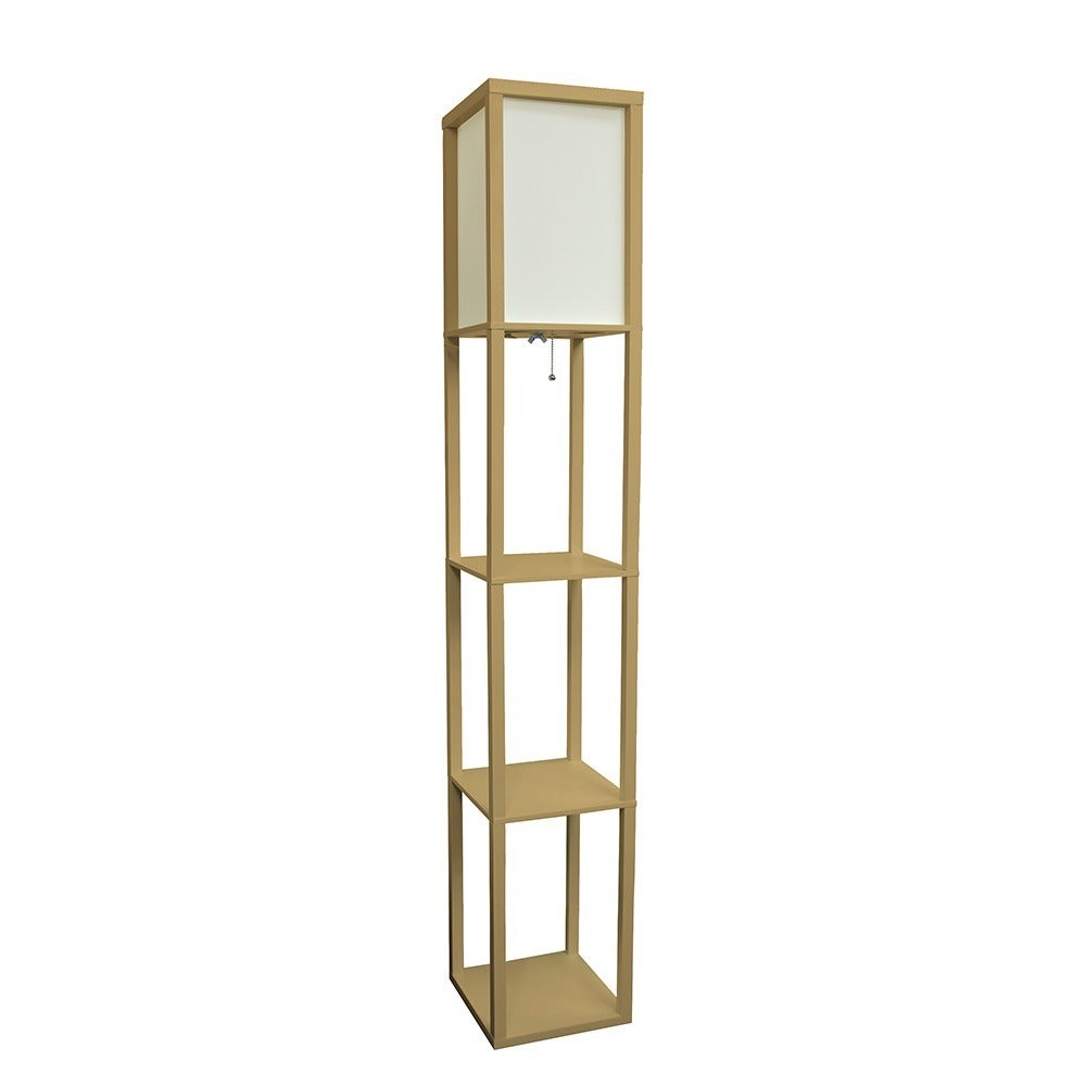 lamp wooden black floor middleton lamps shelf in p with adesso