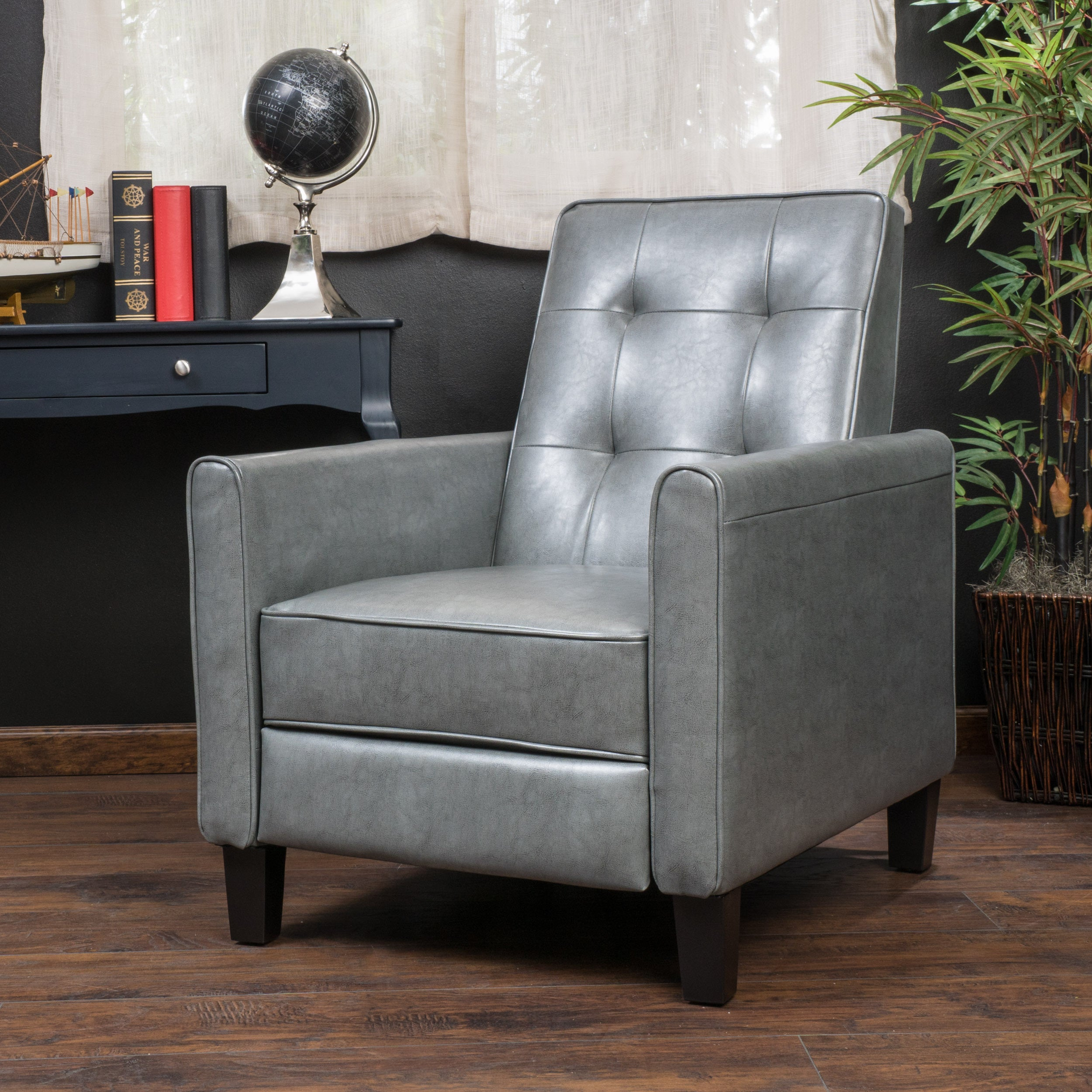 Ordinaire Shop Ethan Tufted Bonded Leather Recliner Chair By Christopher Knight Home    Free Shipping Today   Overstock.com   10325246