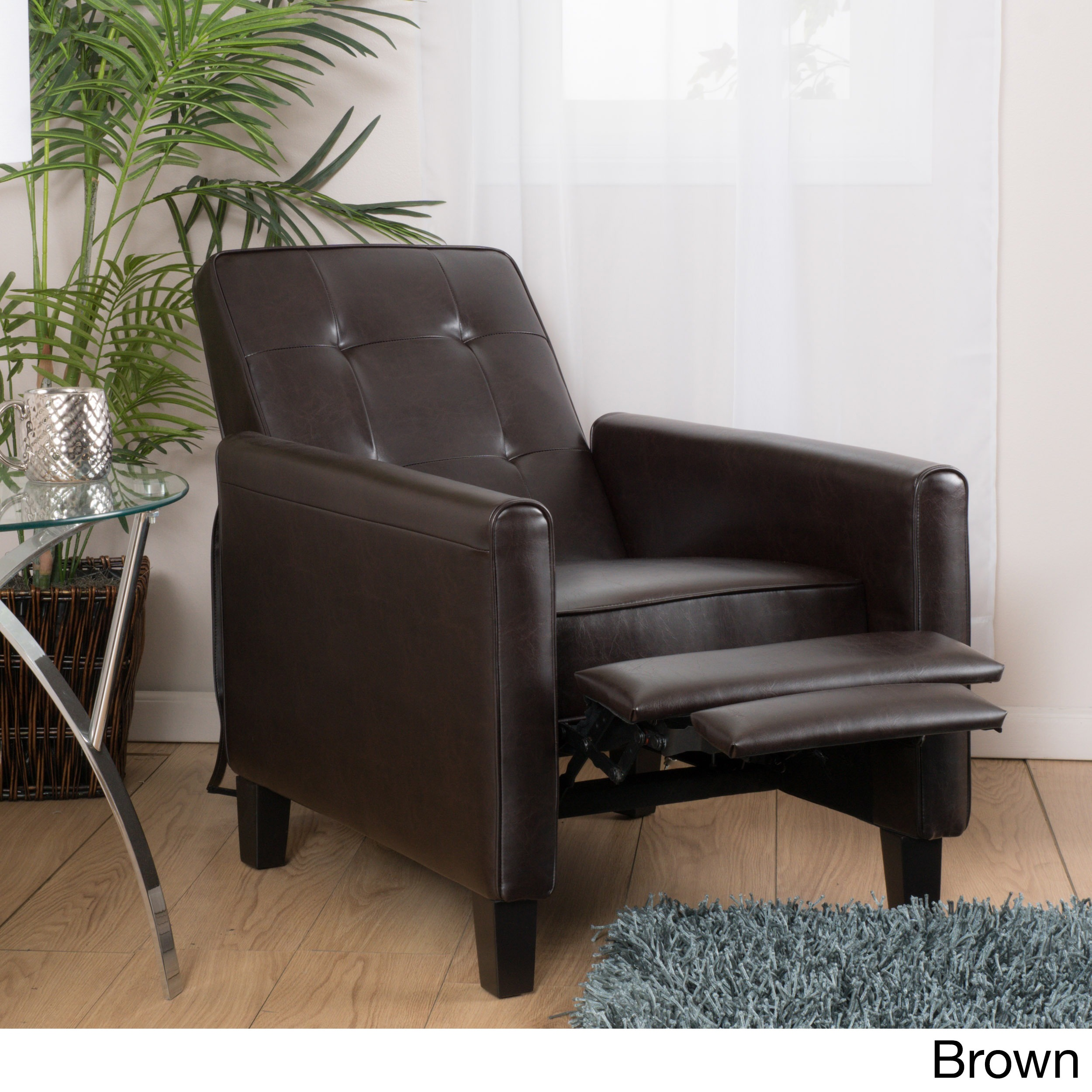 pin recliner fill charleston space chocolate with barcalounger your leather the chair