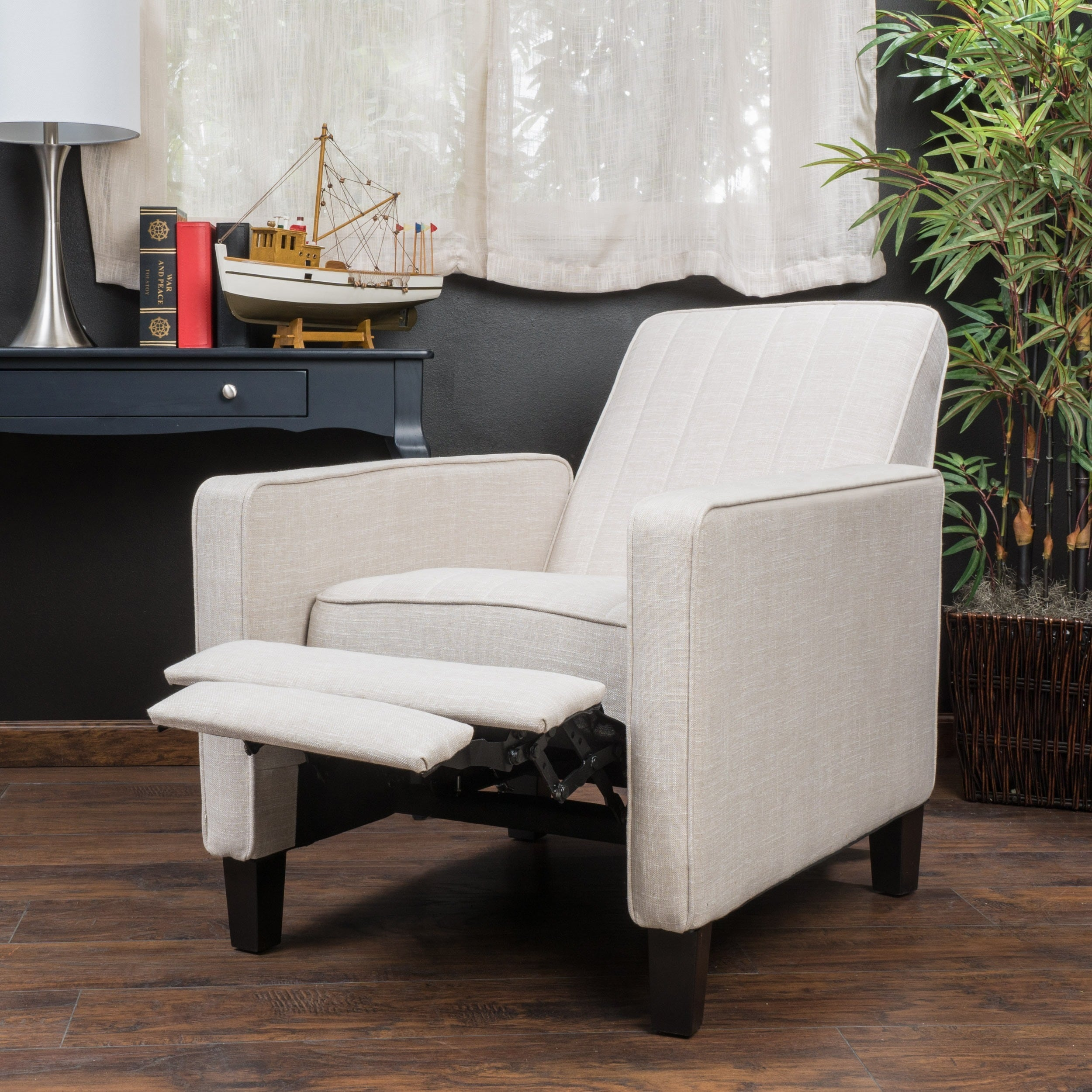 Jameson Channel Fabric Recliner Chair by Christopher